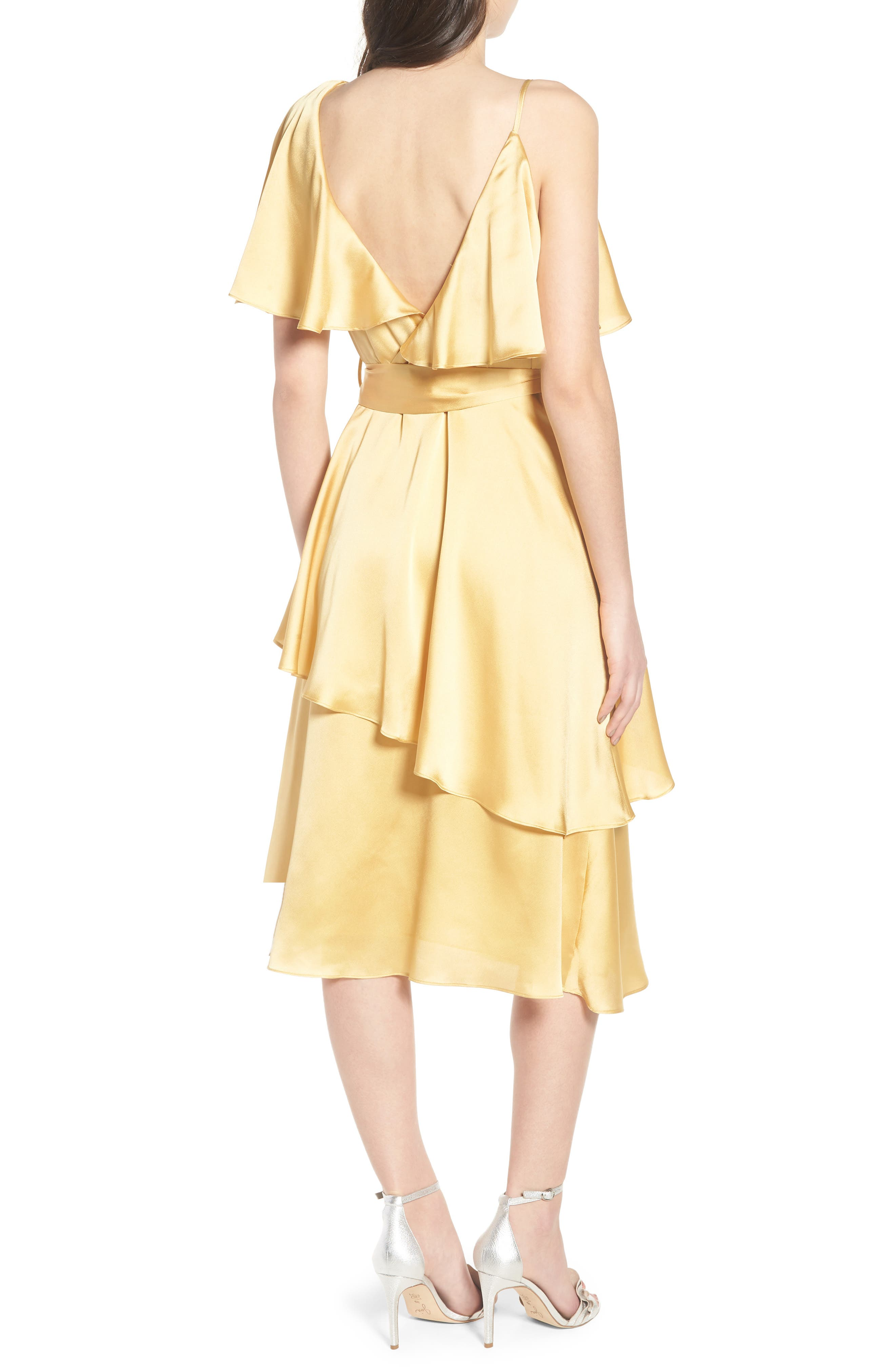 Deconstructed Tea Dress,                             Alternate thumbnail 3, color,                             Yellow