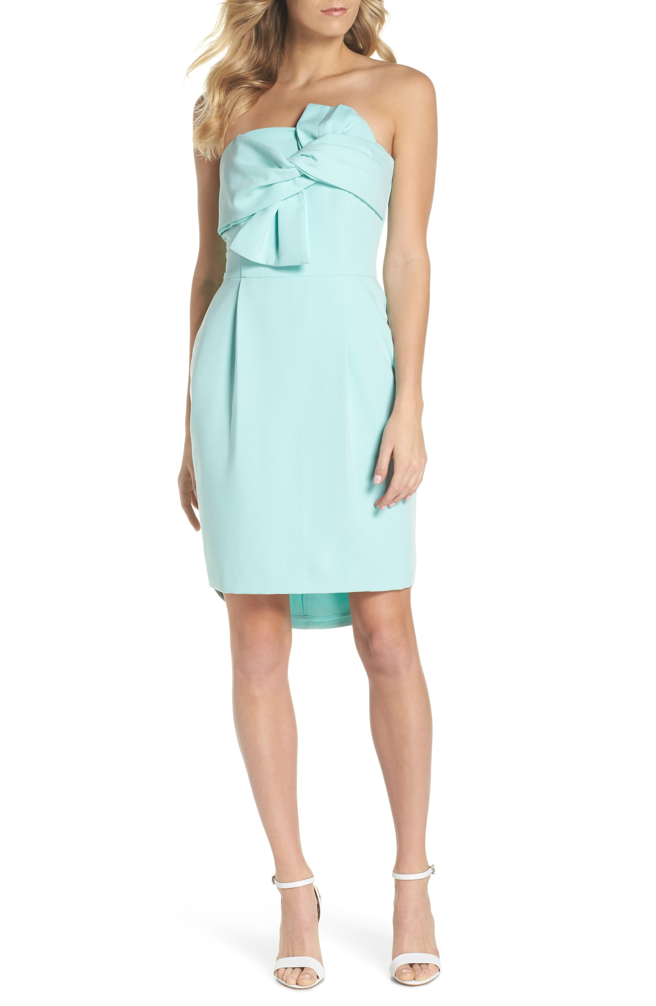 Main Image - Adelyn Rae Krissy Twist Front Strapless Dress
