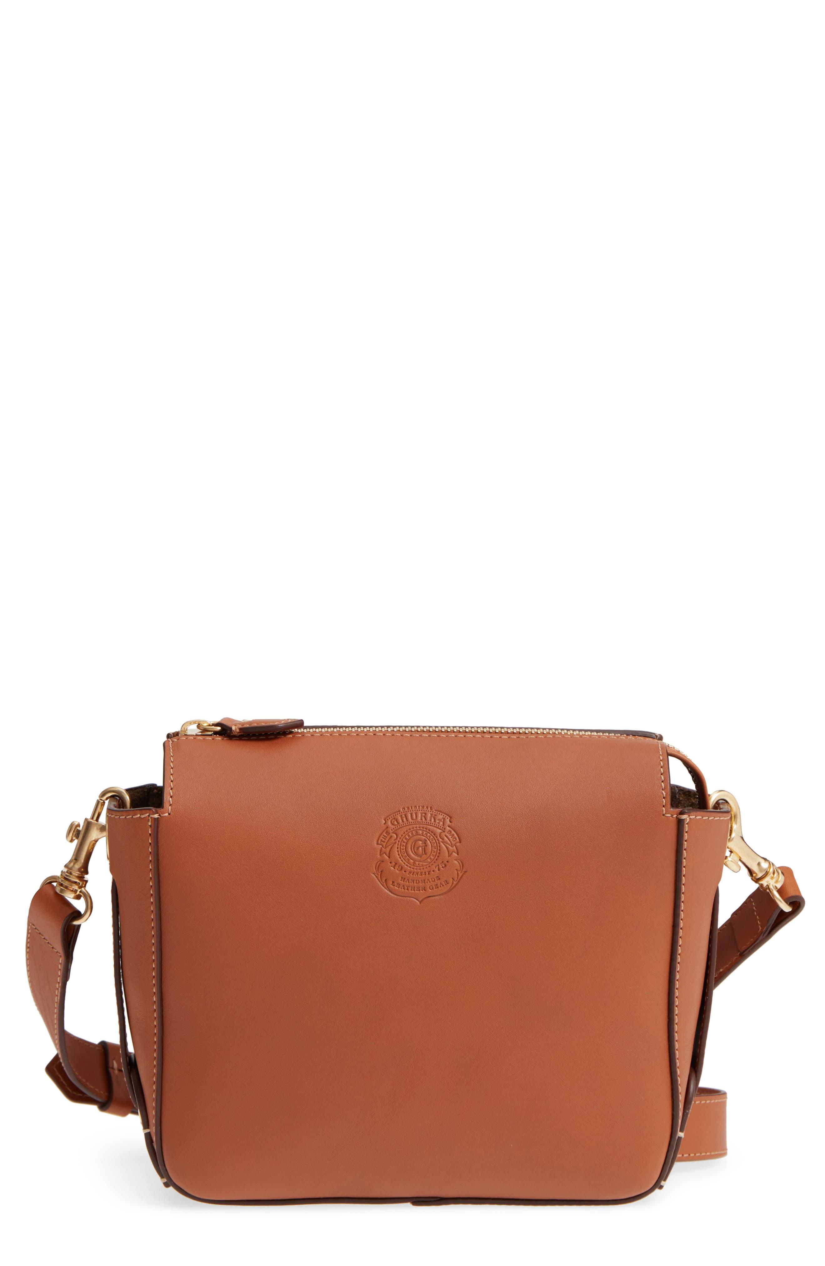 Ghurka Tilley Leather Crossbody Bag