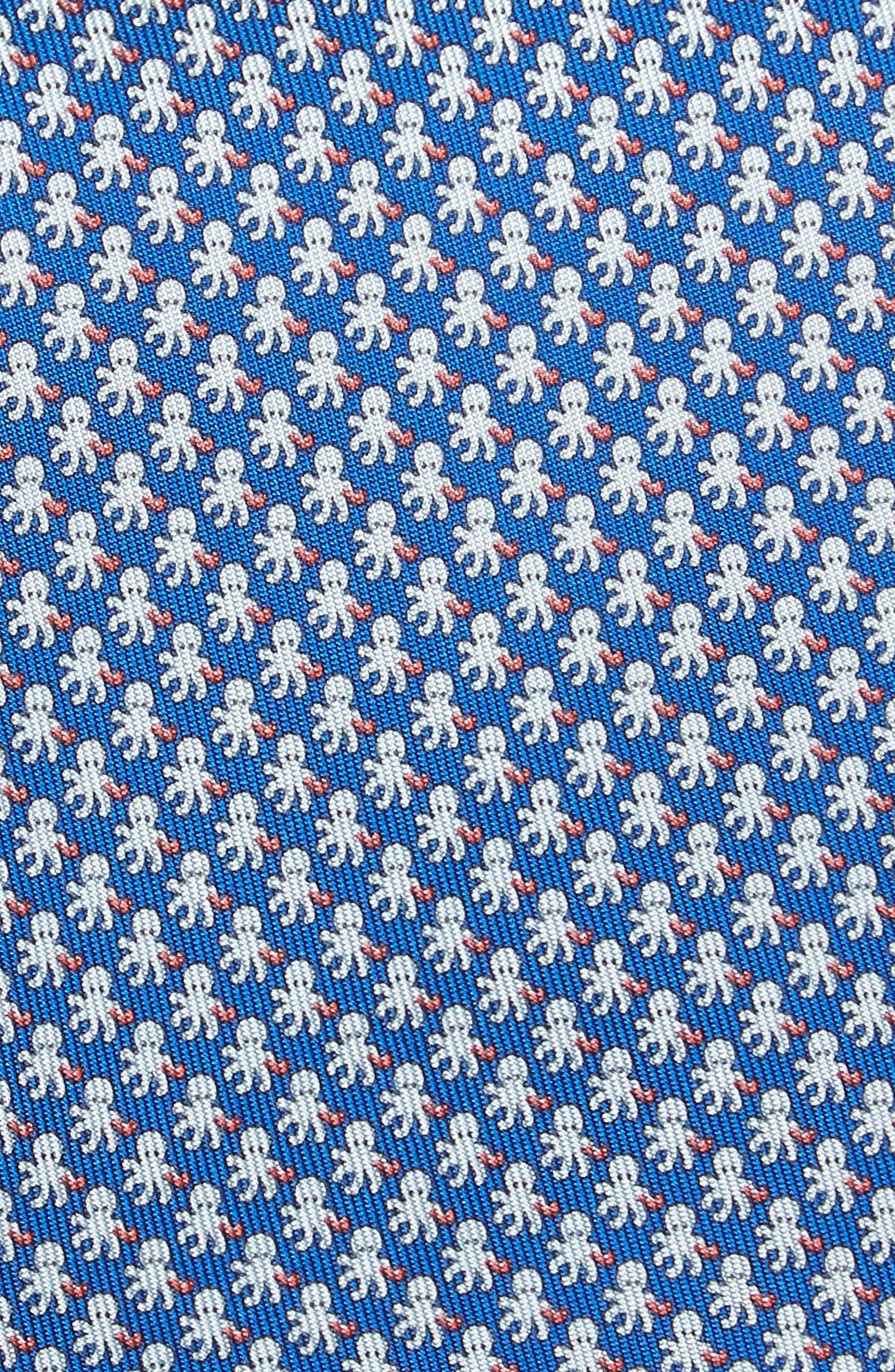 Ettore Print Silk Tie,                             Alternate thumbnail 2, color,                             Blue