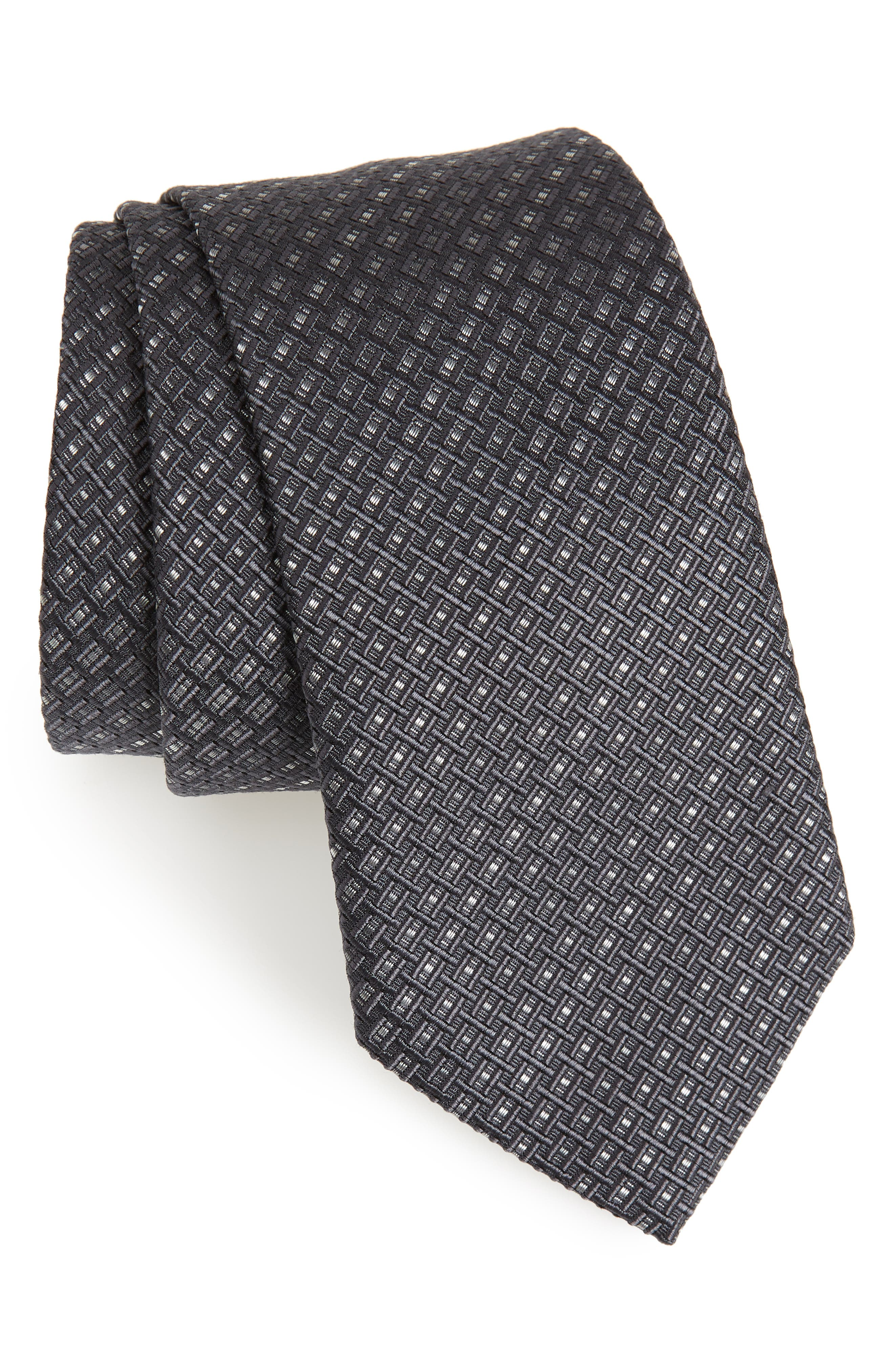 Alternate Image 1 Selected - Salvatore Ferragamo Este Solid Silk & Cotton Tie