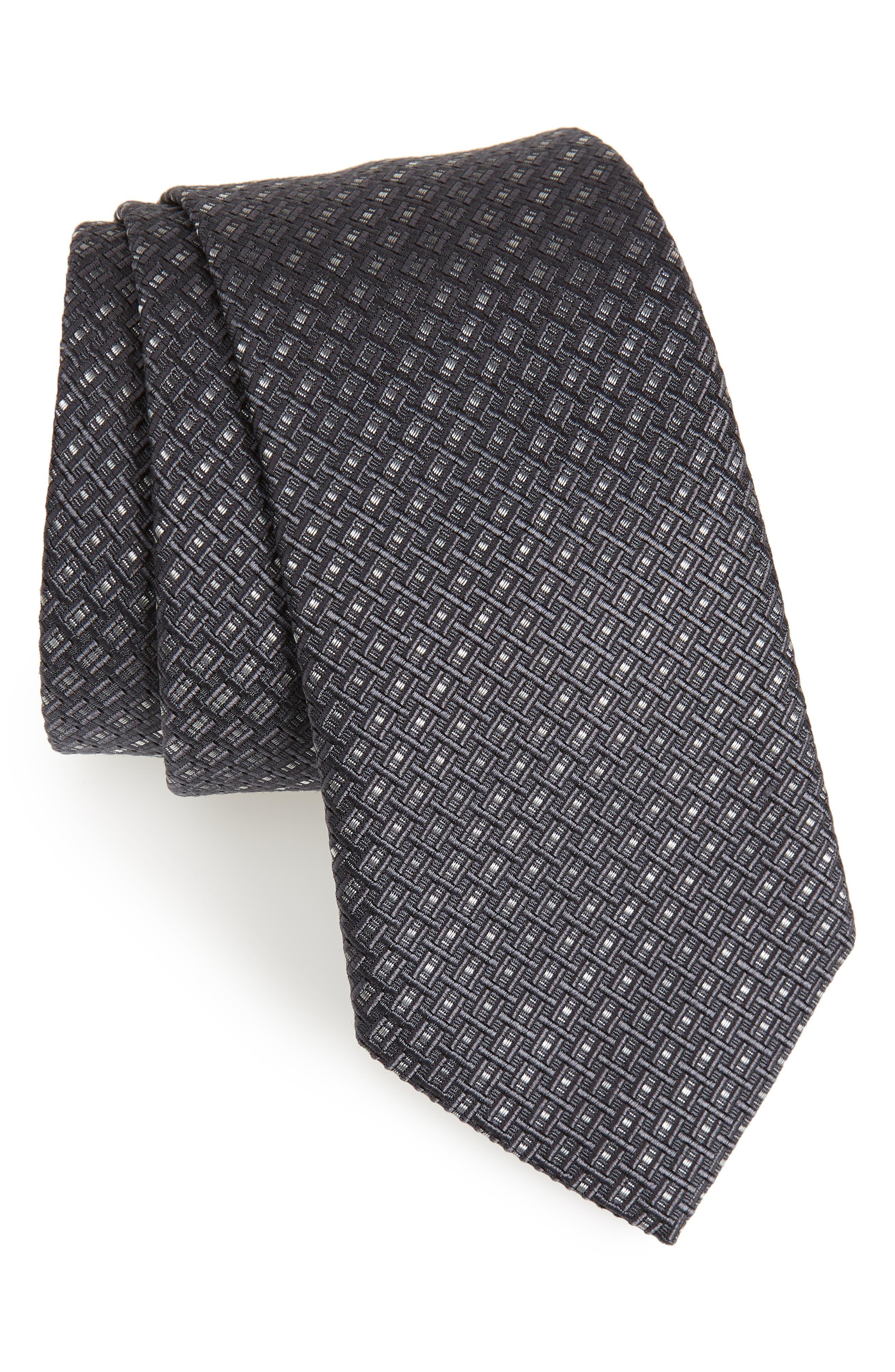 Main Image - Salvatore Ferragamo Este Solid Silk & Cotton Tie
