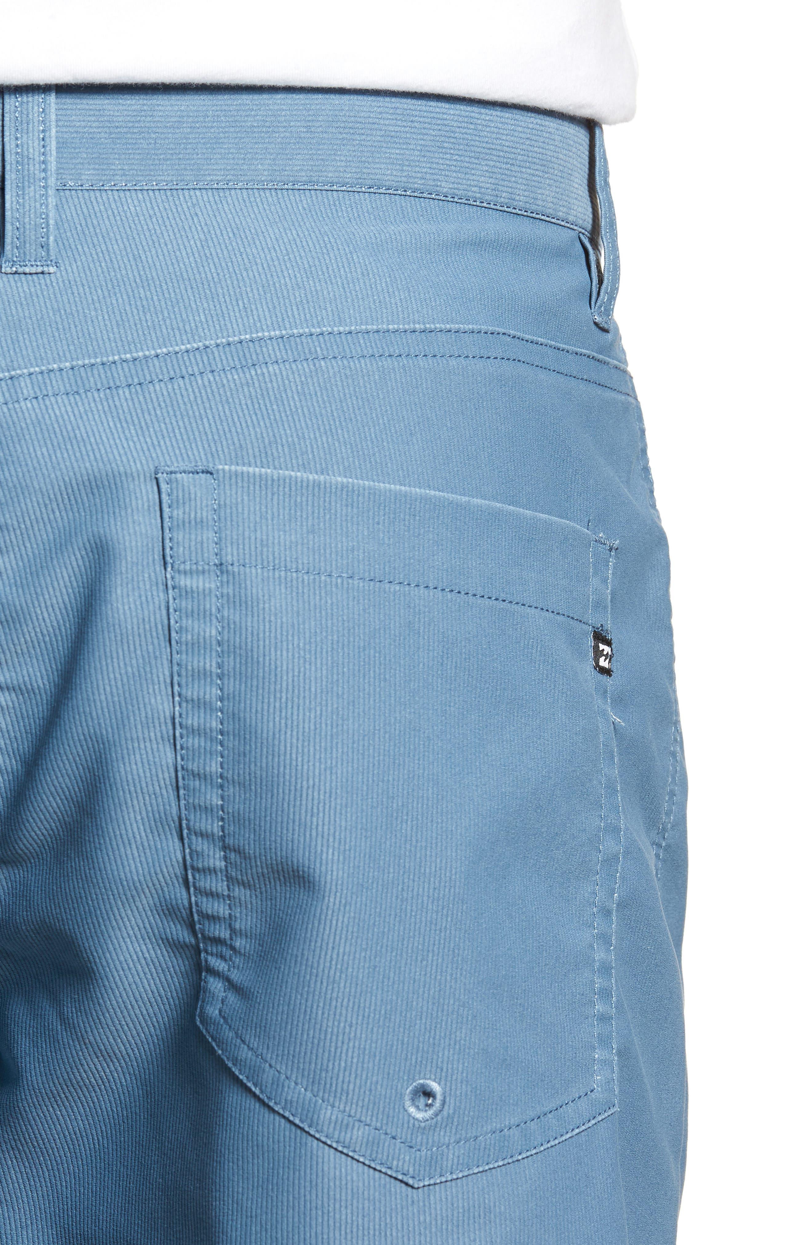 Outsider X Surf Corduroy Shorts,                             Alternate thumbnail 4, color,                             Powder Blue