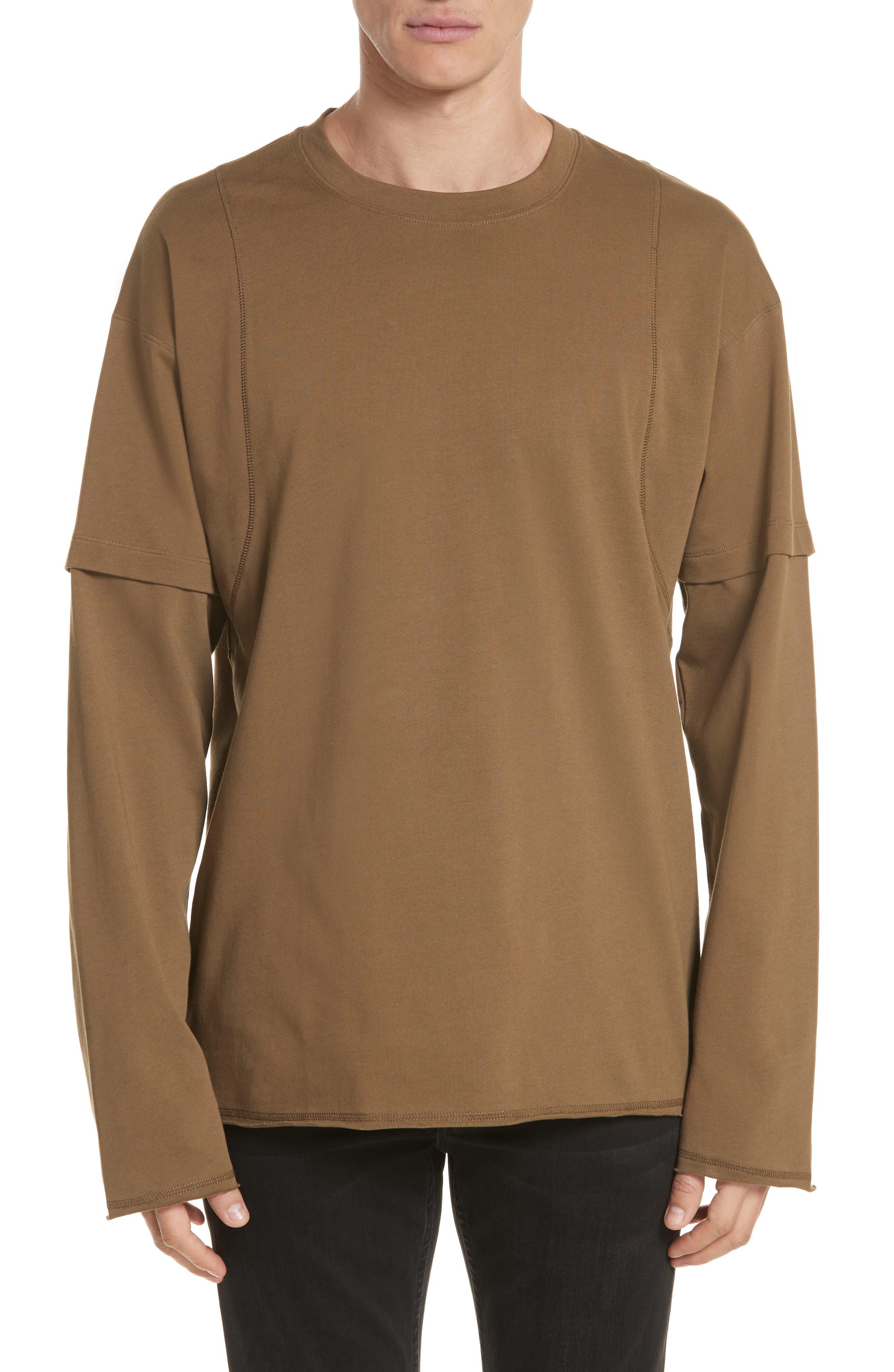 Helmut Lang Waffle Knit Long Sleeve T-Shirt