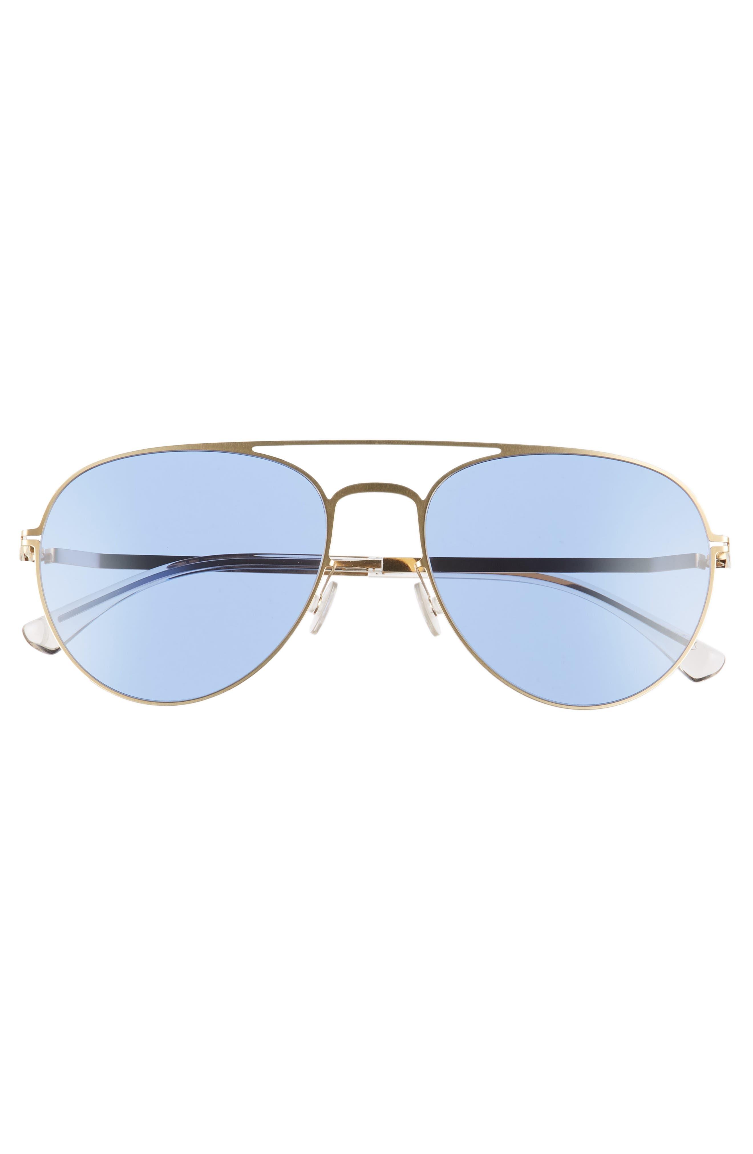 Samu 55mm Aviator Sunglasses,                             Alternate thumbnail 2, color,                             Glossy Gold