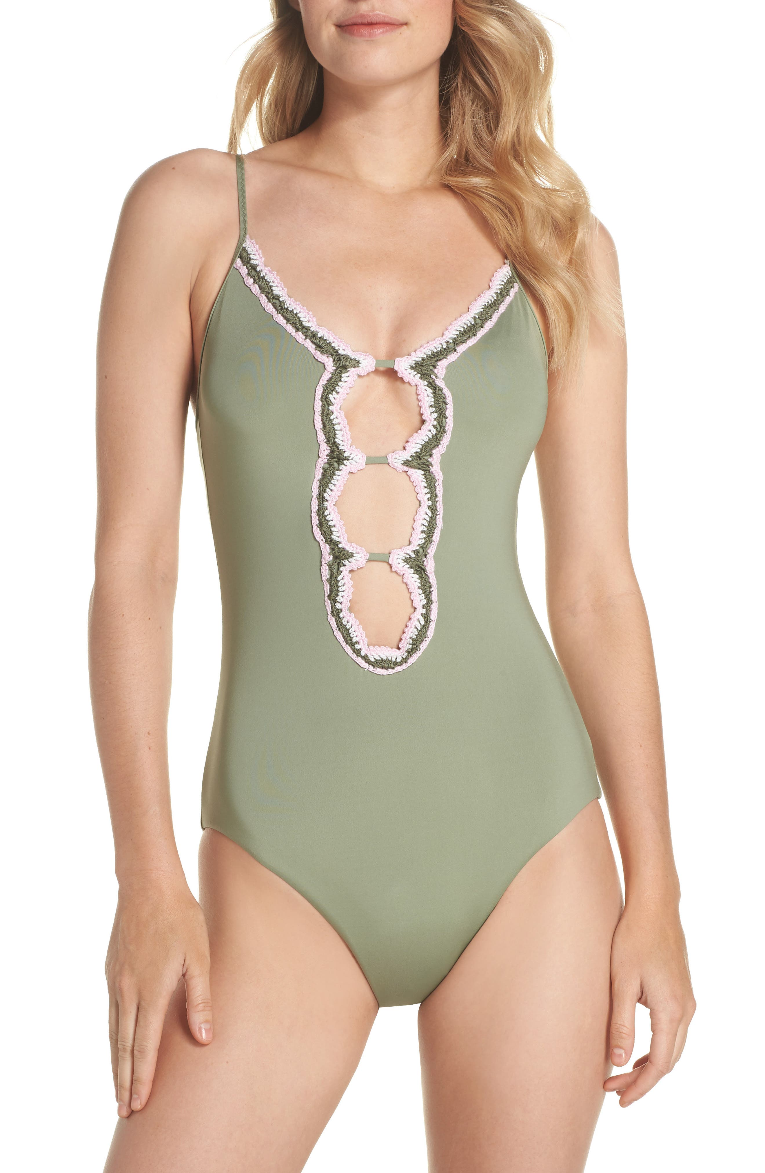 Medina One-Piece Swimsuit,                             Main thumbnail 1, color,                             Mojito