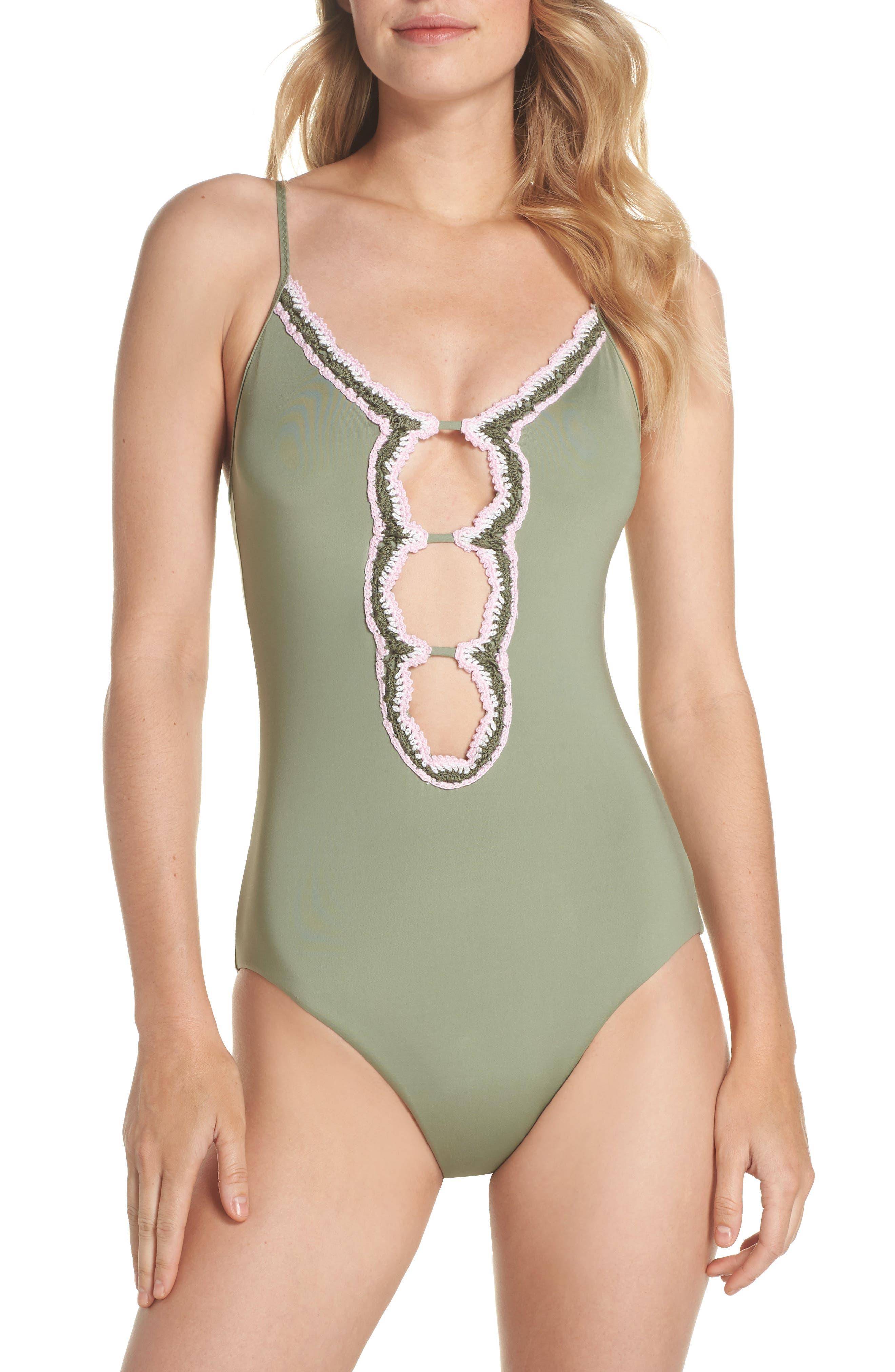Medina One-Piece Swimsuit,                         Main,                         color, Mojito