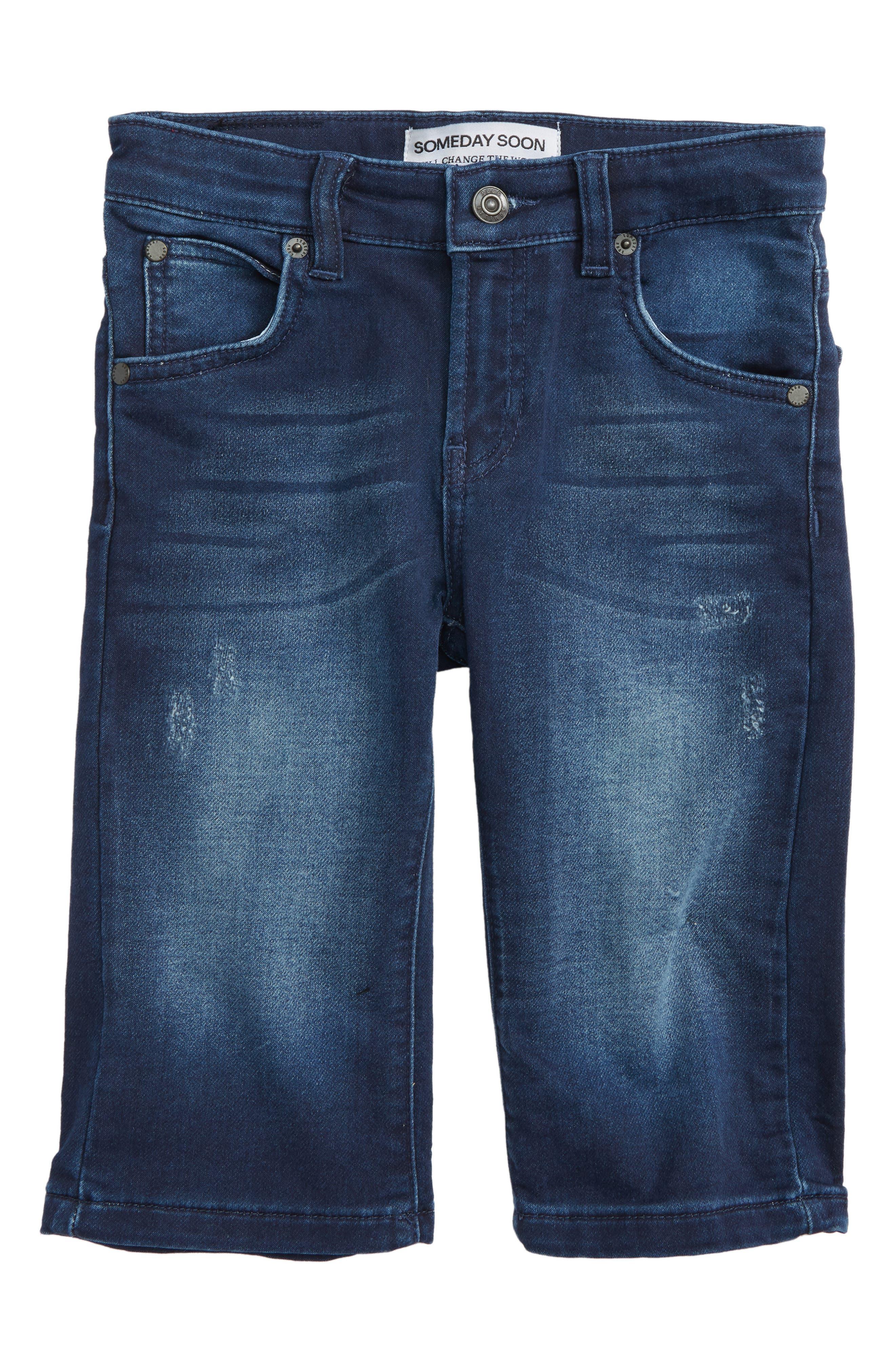 Carl Denim Shorts,                         Main,                         color, Blue