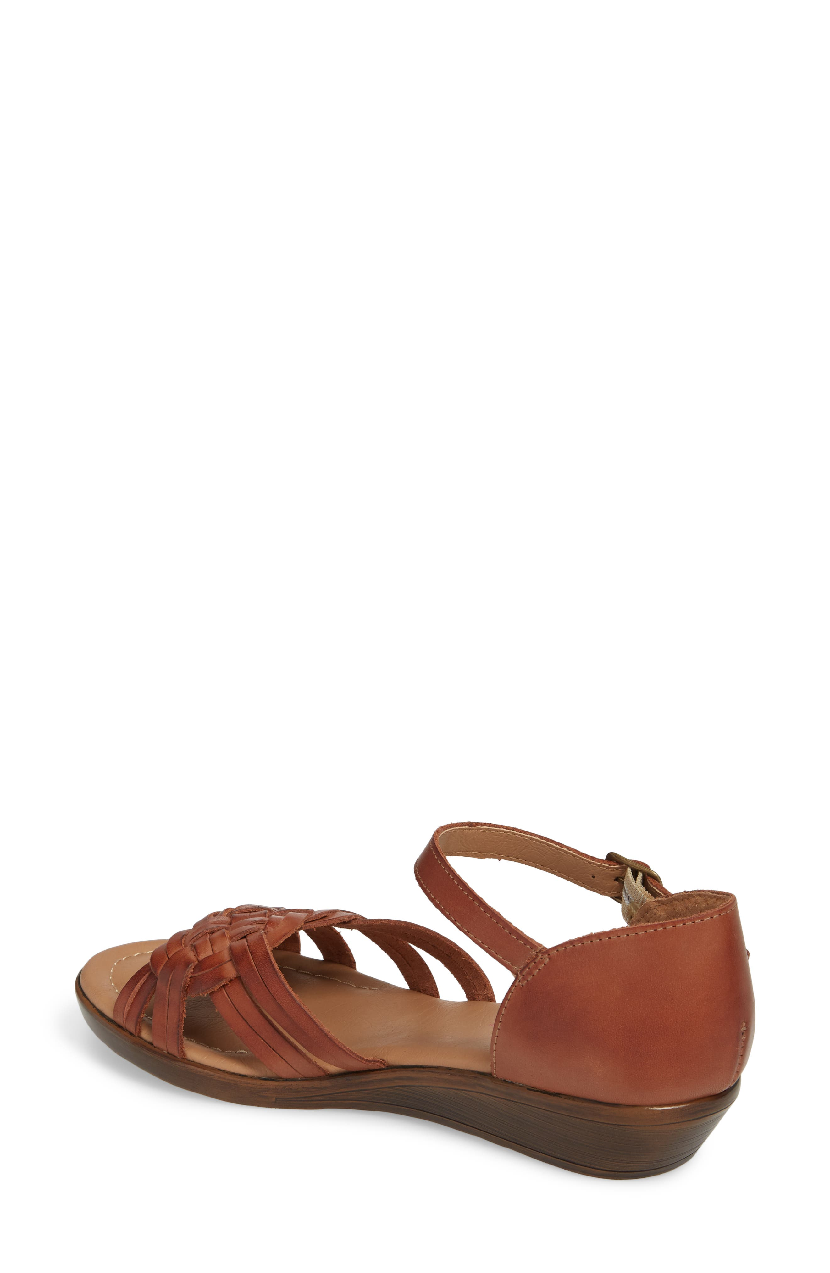 Fortune Sandal,                             Alternate thumbnail 2, color,                             Rust Leather