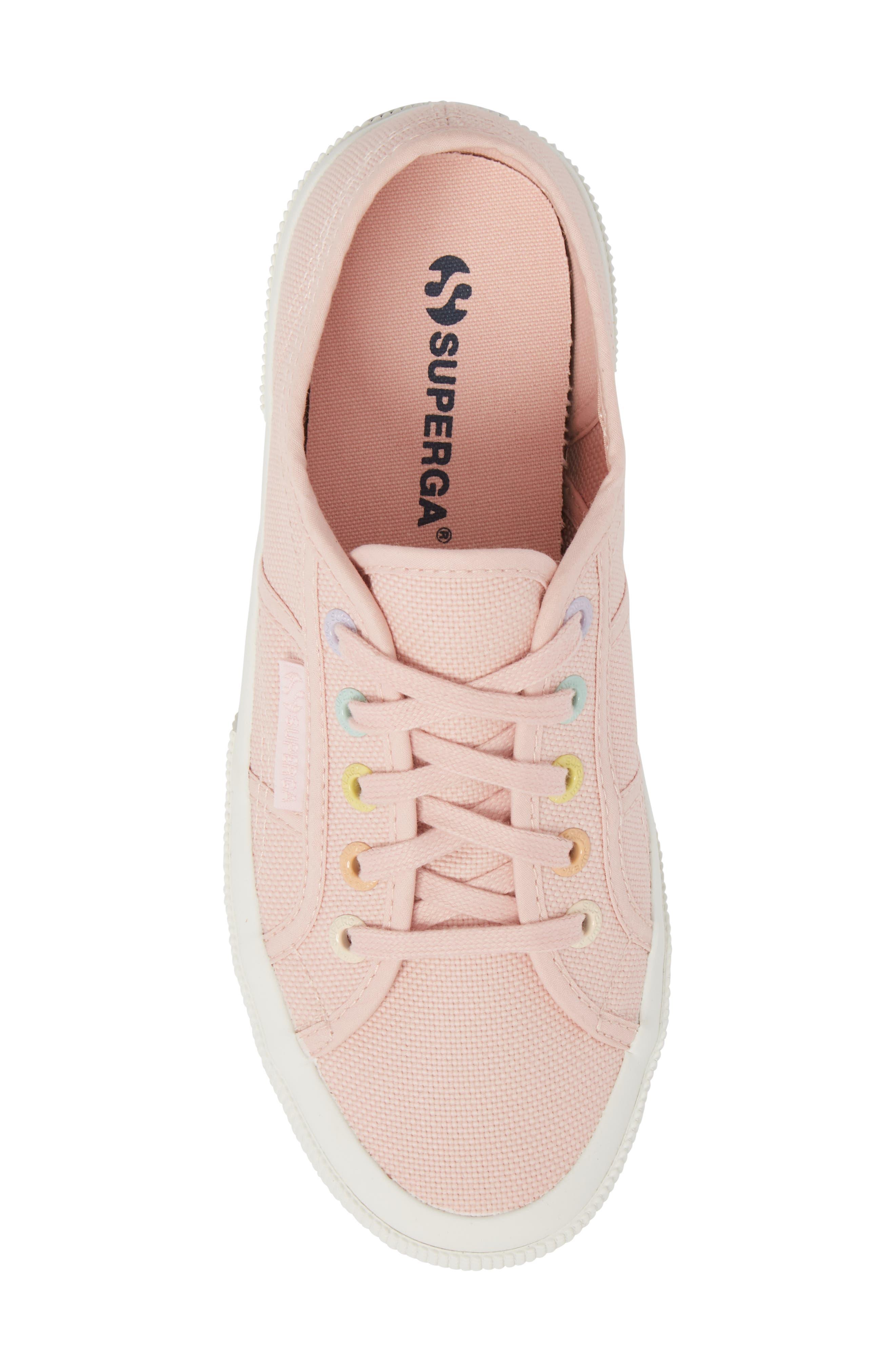 2750 Rainbow Sneaker,                             Alternate thumbnail 5, color,                             Light Pink