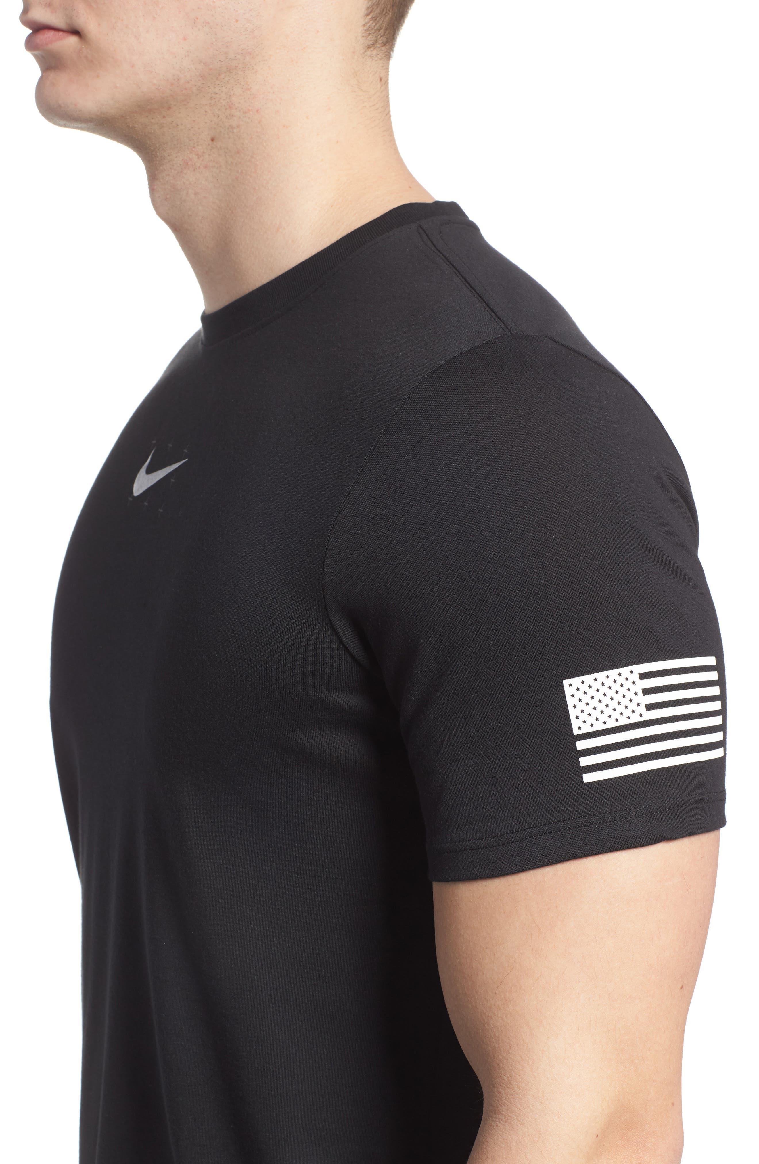 Dry Unit T-Shirt,                             Alternate thumbnail 4, color,                             Black/ Black