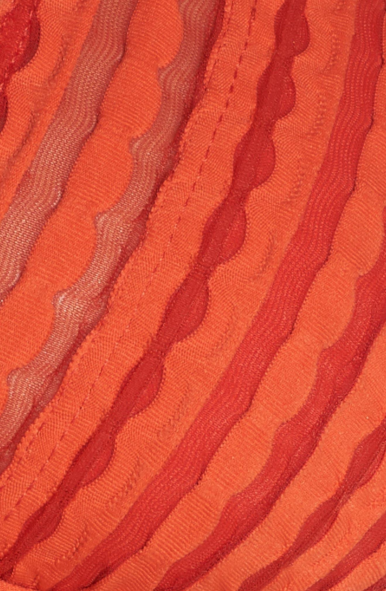 Carly Keyhole Halter Bikini Top,                             Alternate thumbnail 8, color,                             Pimento