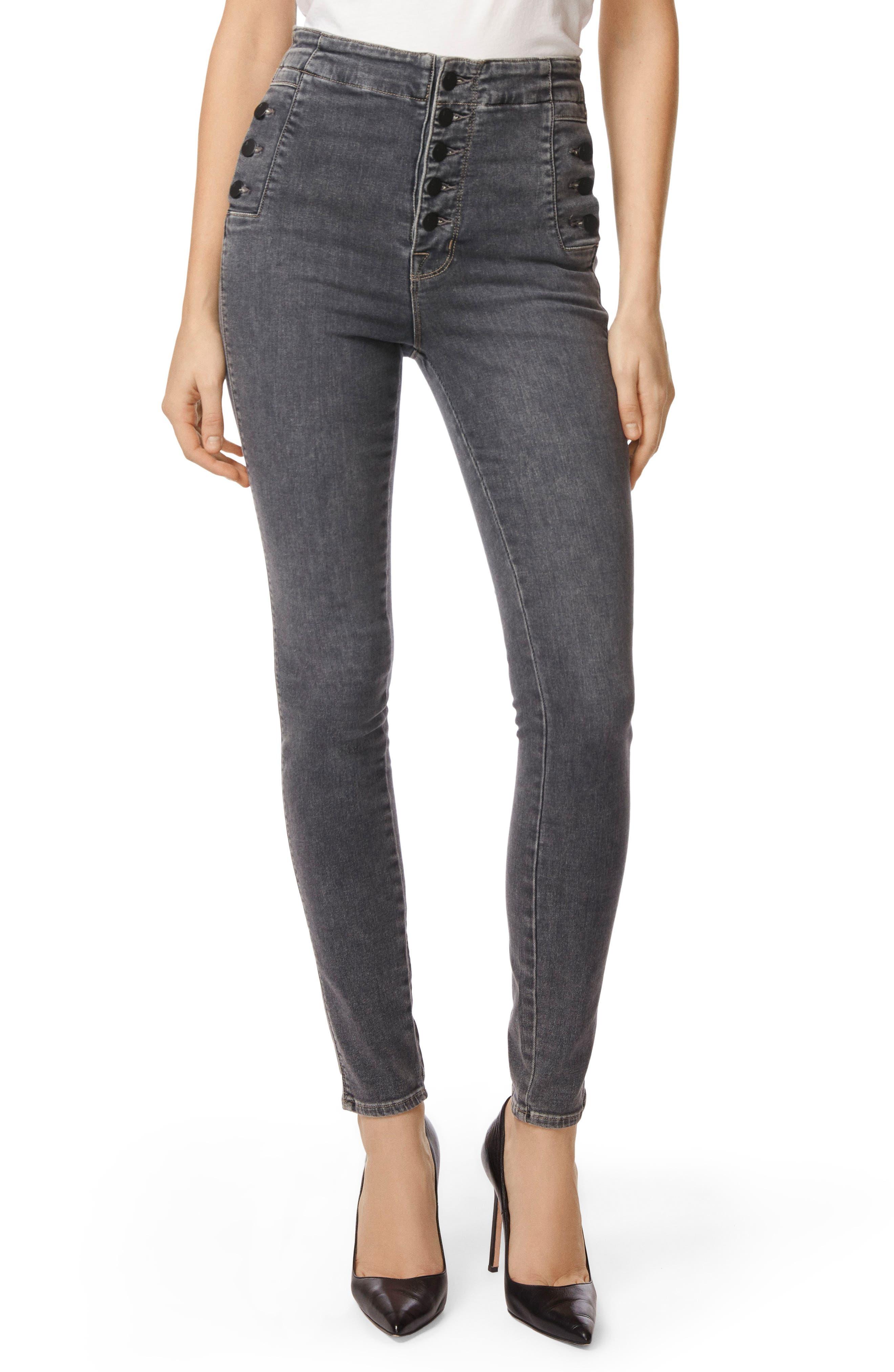 Natasha Sky High High Waist Super Skinny Jeans,                             Main thumbnail 1, color,                             Obscura