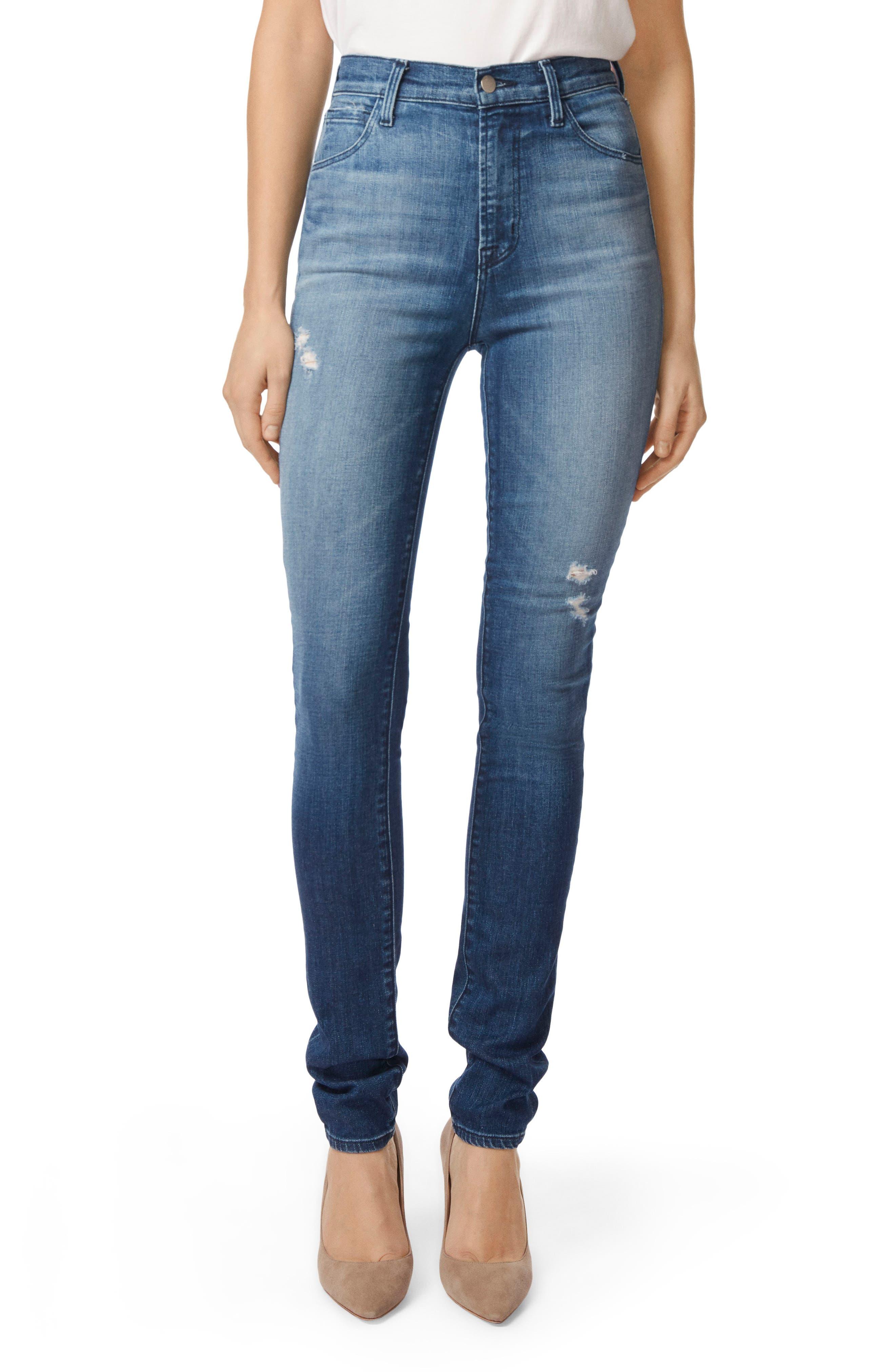 Carolina Super High Waist Skinny Jeans,                             Main thumbnail 1, color,                             Mystic
