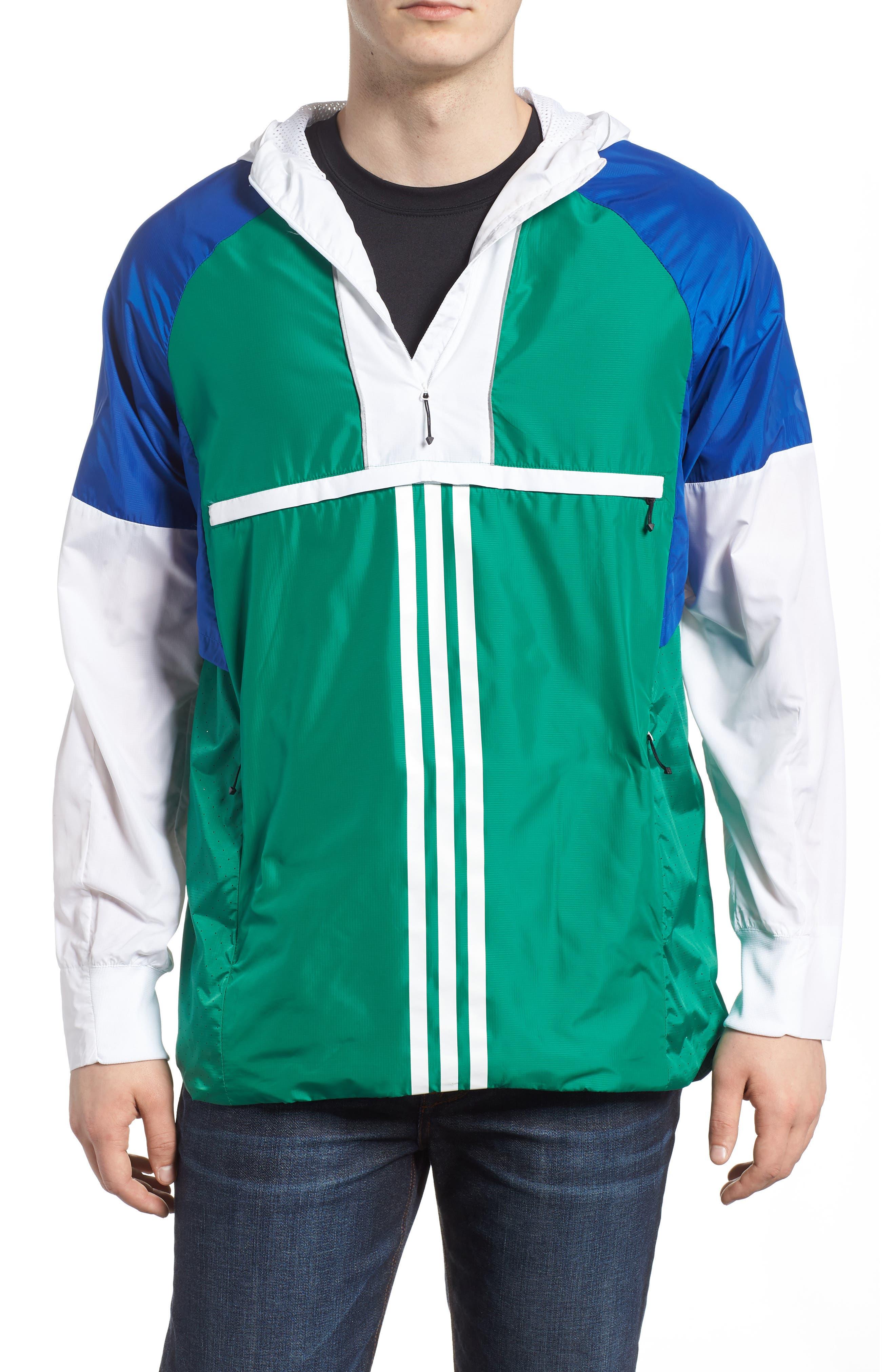 ID Wovenshell Anorak,                         Main,                         color, Bold Green
