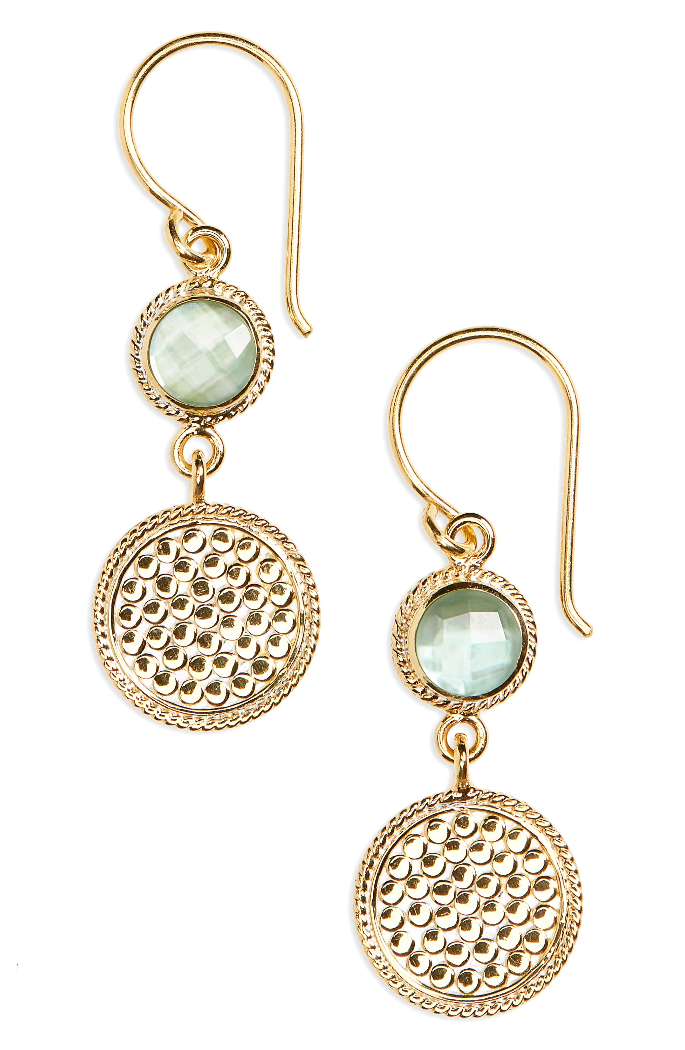 Anna Beck Double Drop Stone Earrings