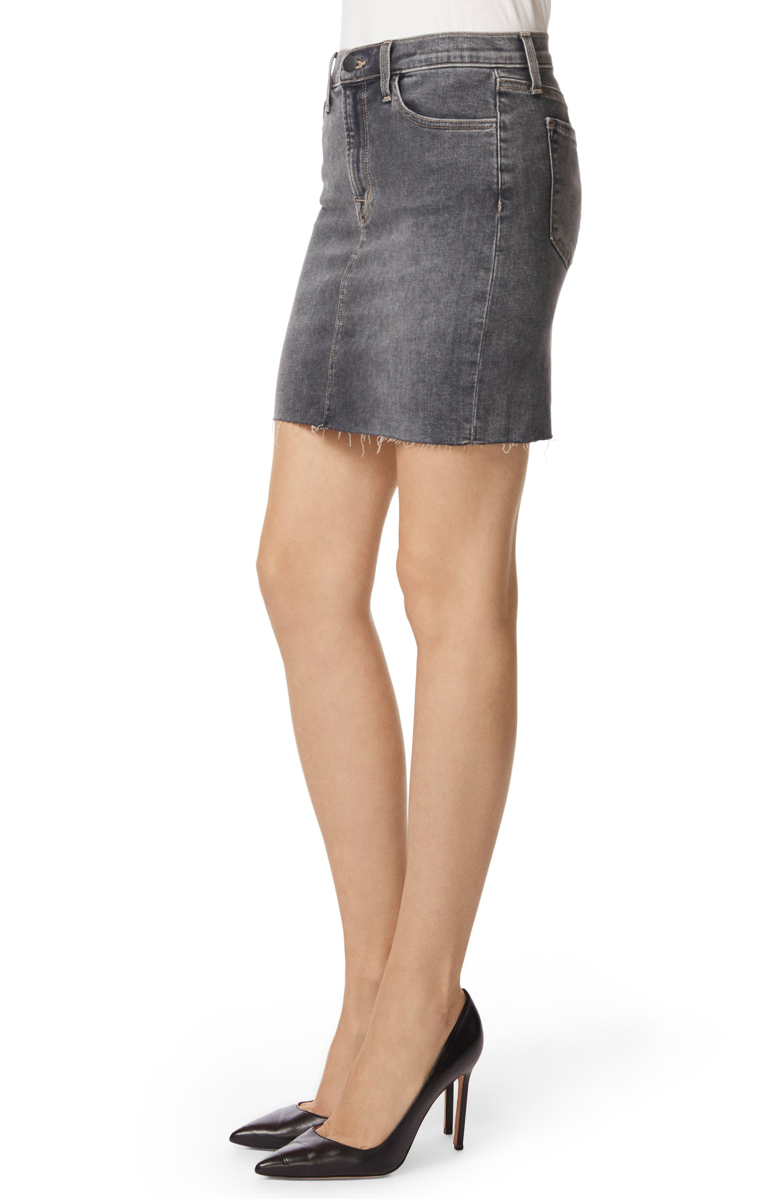 Lyla Raw Hem Miniskirt,                             Alternate thumbnail 3, color,                             Obscura