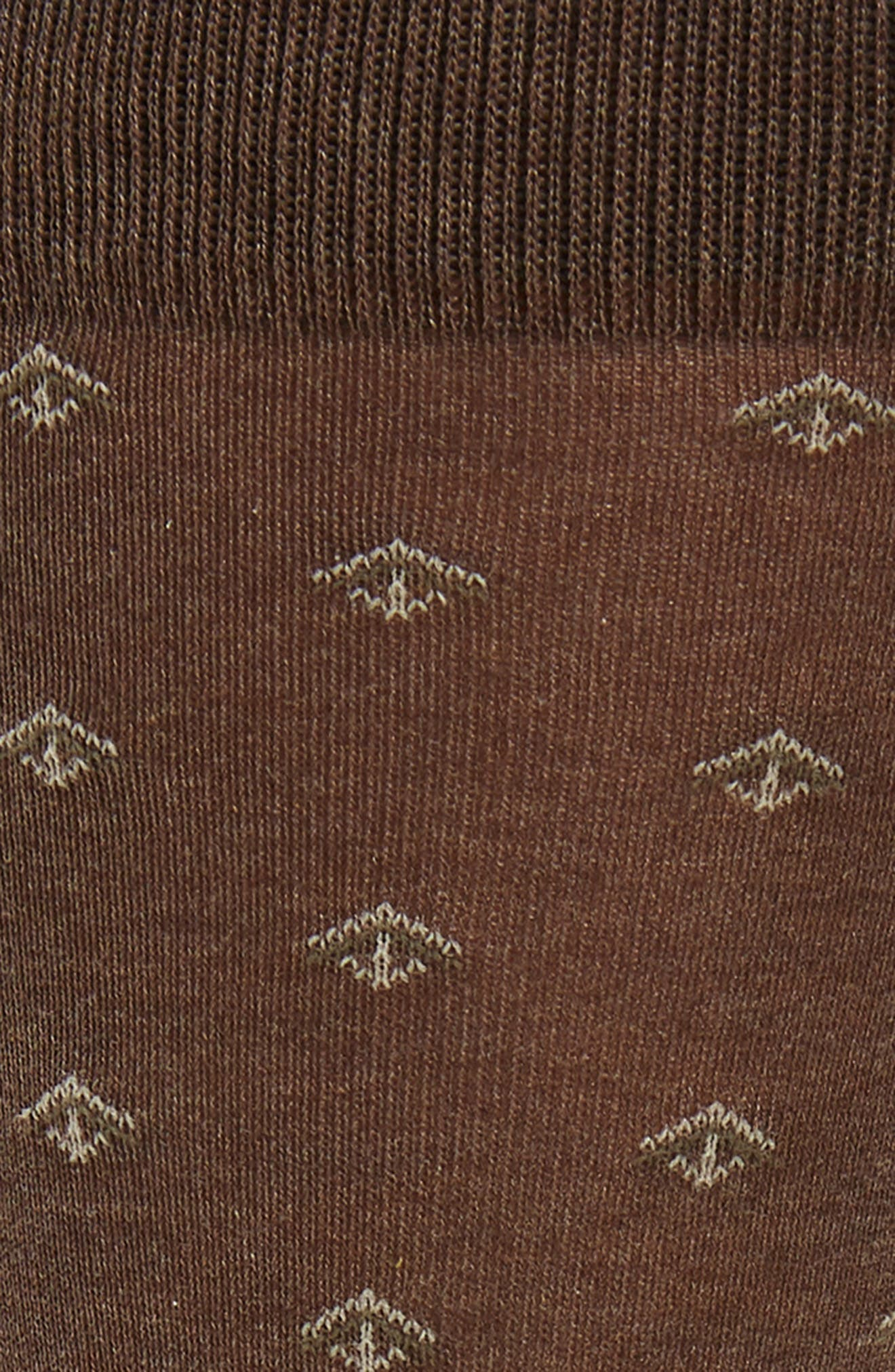 Cascading Arrows Socks,                             Alternate thumbnail 2, color,                             Brown Heather
