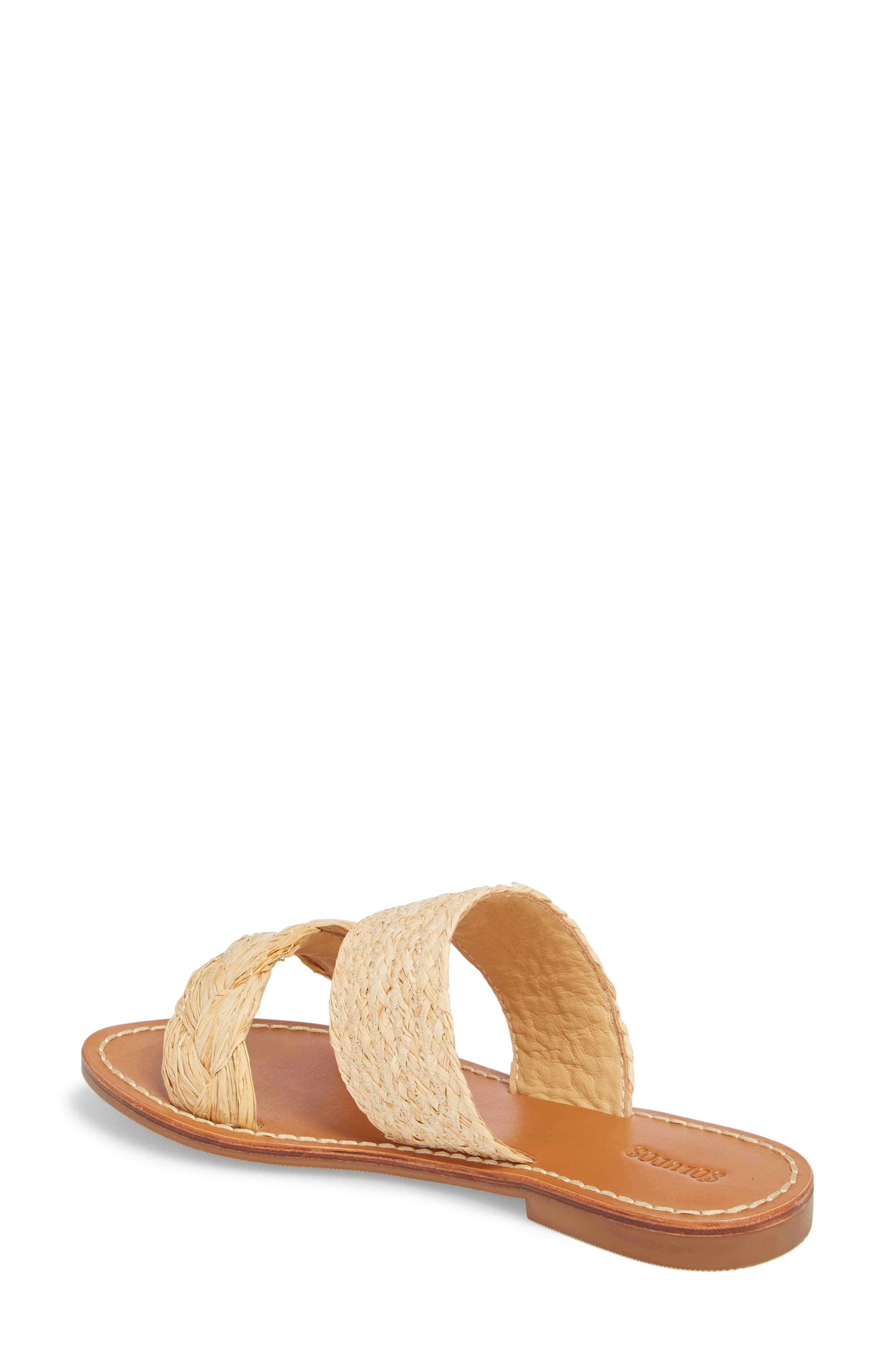 Braided Slide Sandal,                             Alternate thumbnail 2, color,                             Natural Leather