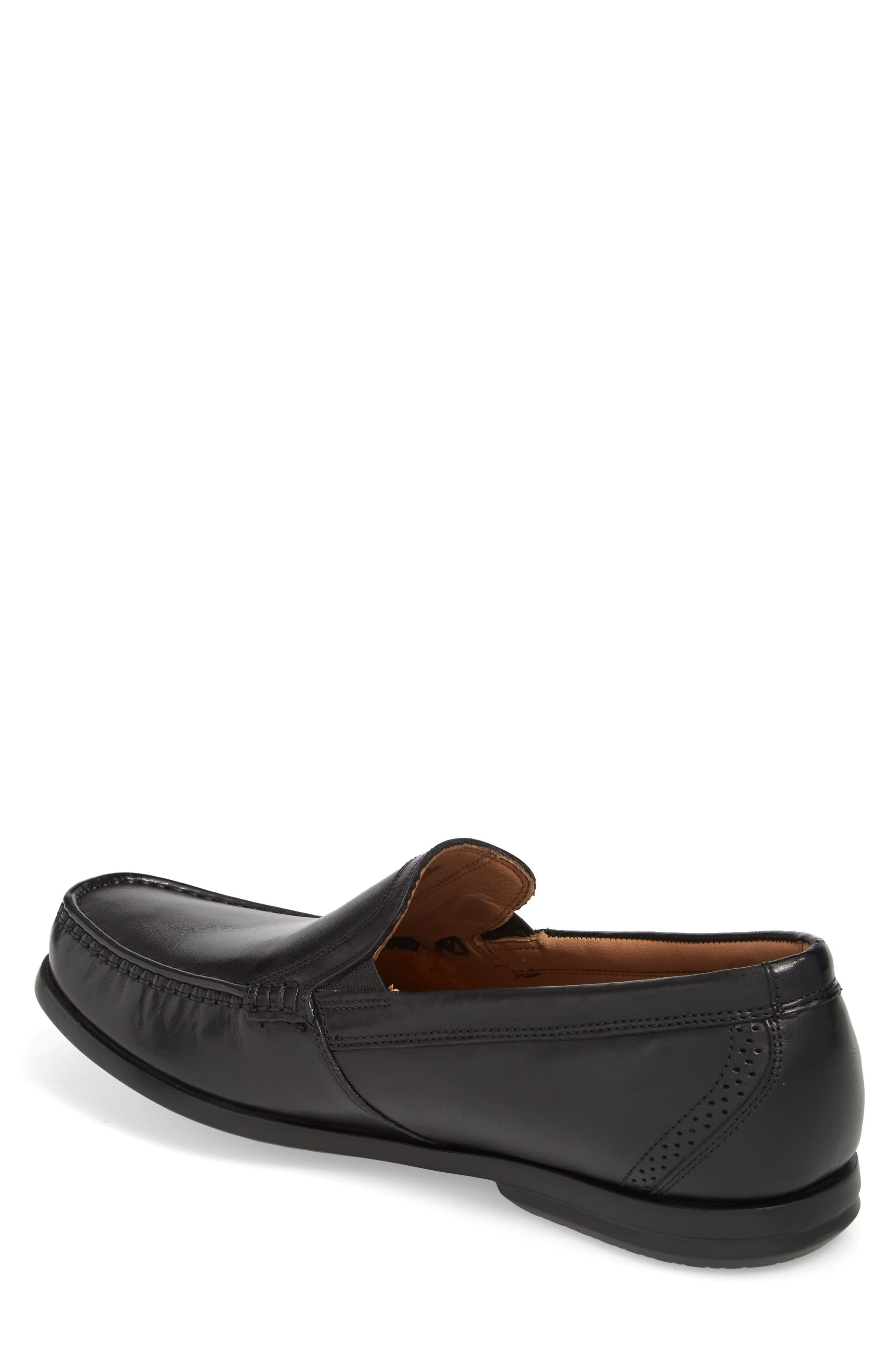 Clarks<sup>®</sup> Ungala Free Venetian Loafer,                             Alternate thumbnail 2, color,                             Black Leather