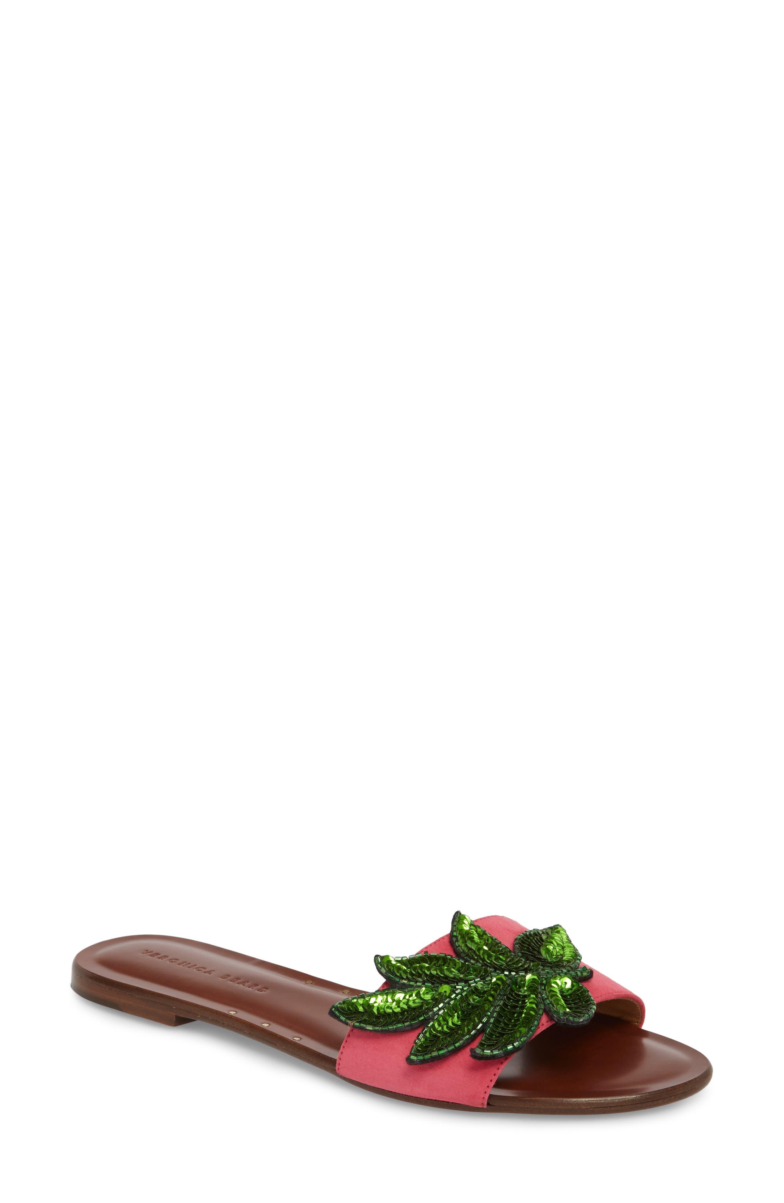 Veronica Beard Flor Sequin Slide Sandal (Women)