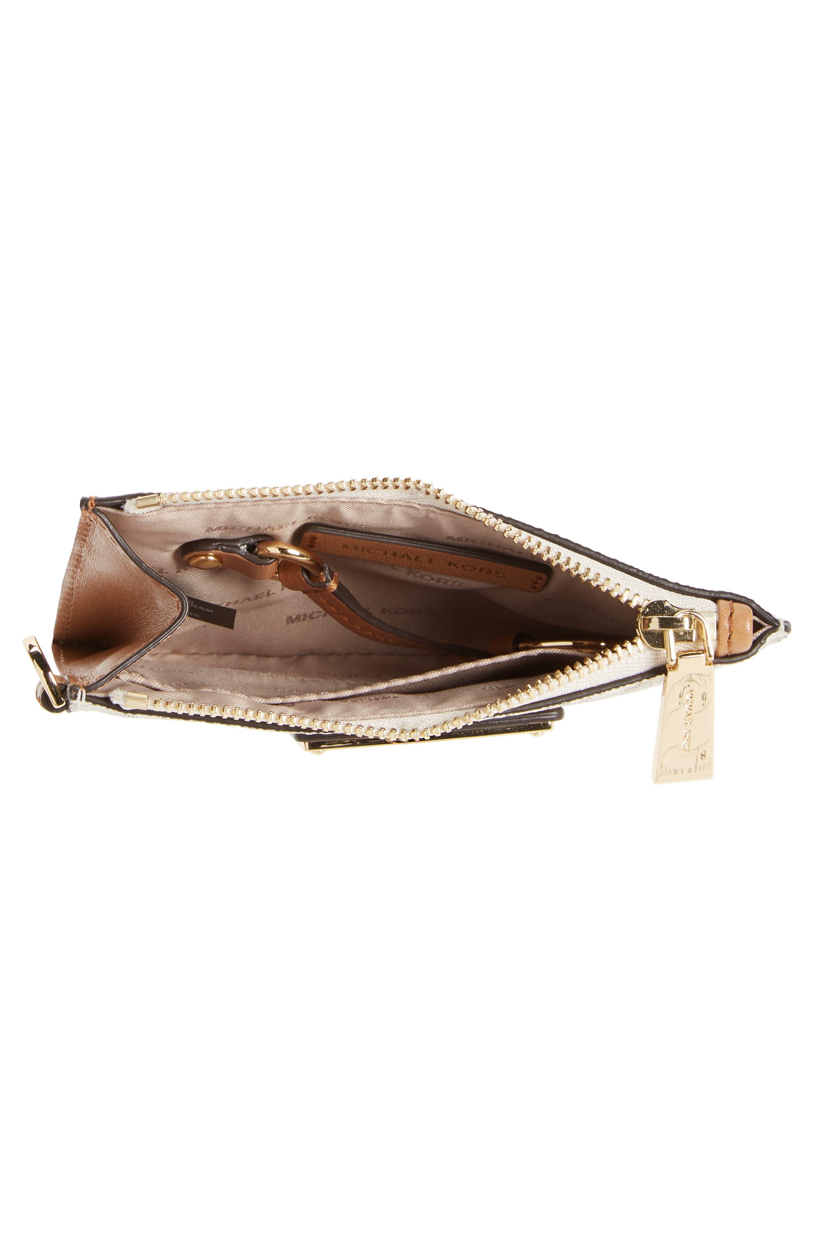 Mercer Faux Leather Zip Card Case,                             Alternate thumbnail 3, color,                             Vanilla
