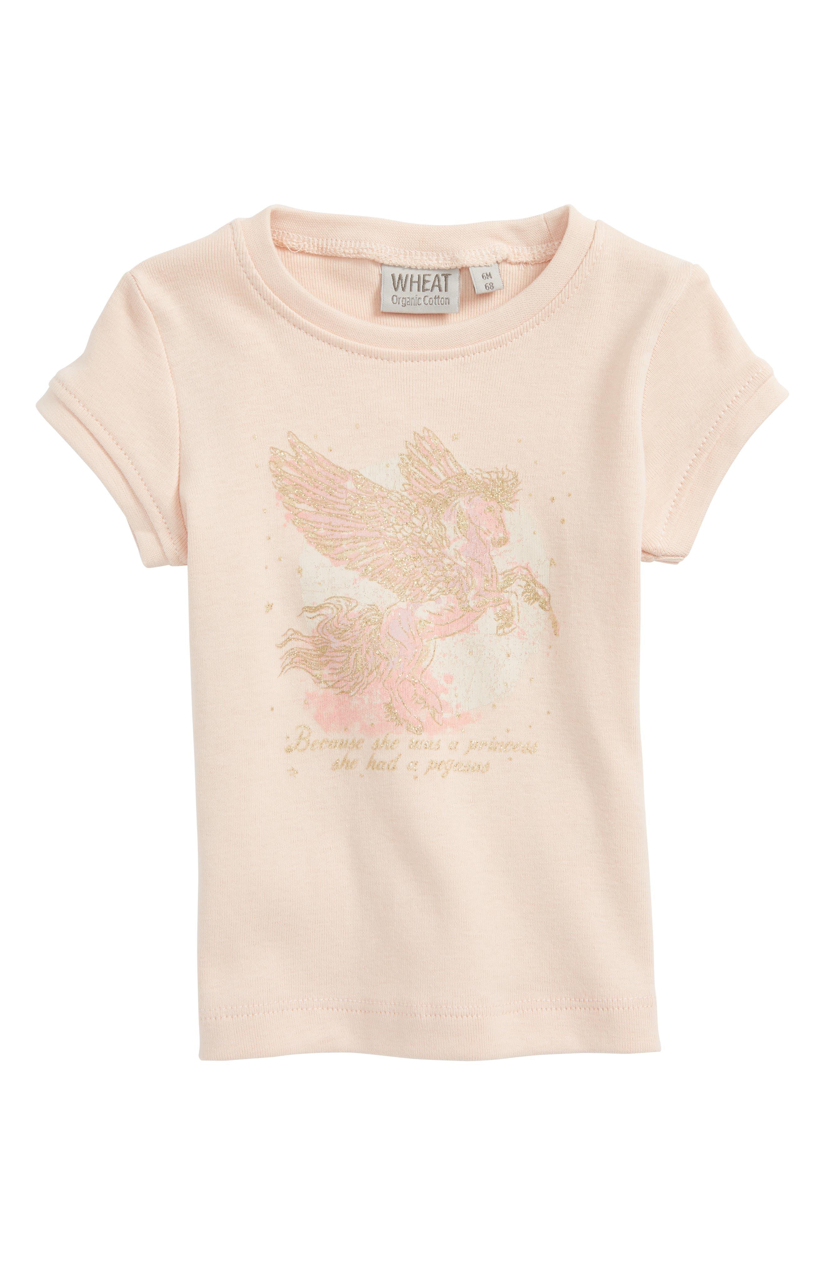 Wheat Pegasus Organic Cotton Tee (Baby Girls & Toddler Girls)