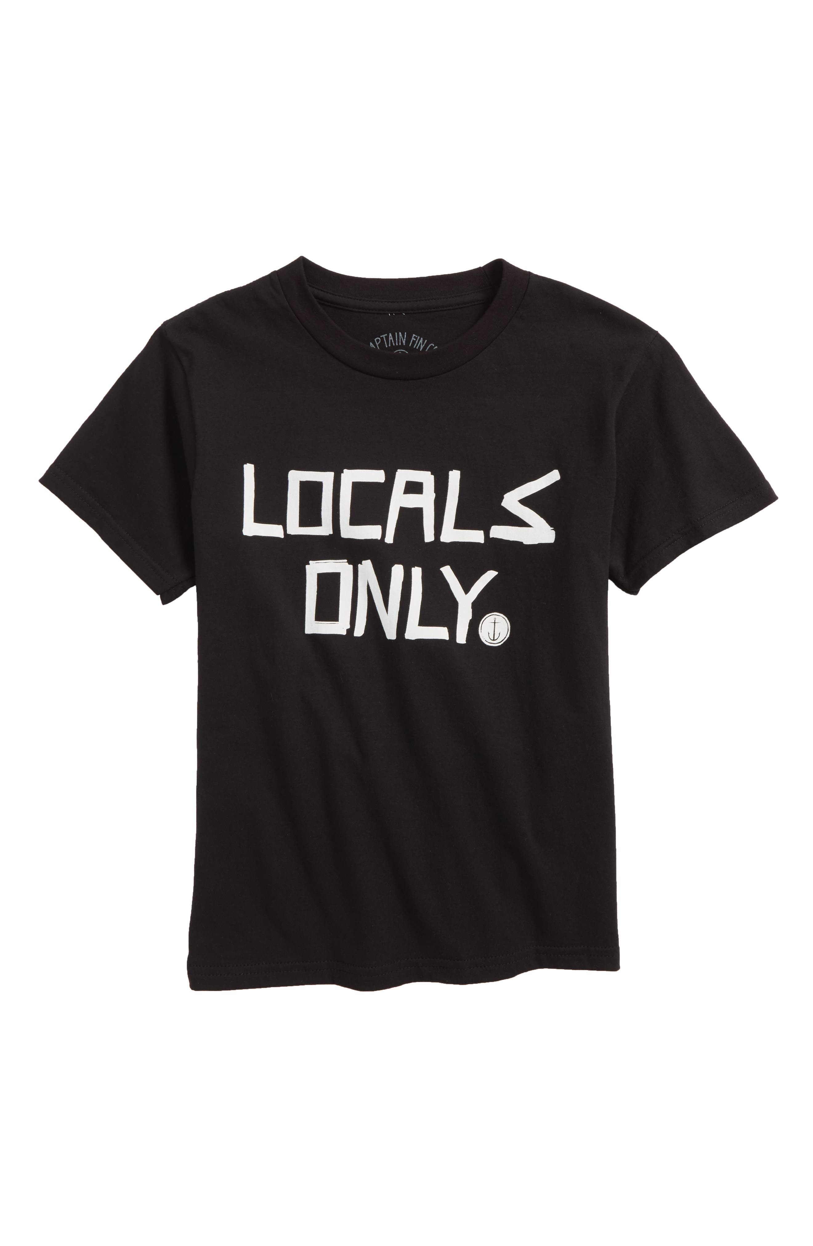 Locals Only T-Shirt,                             Main thumbnail 1, color,                             Black