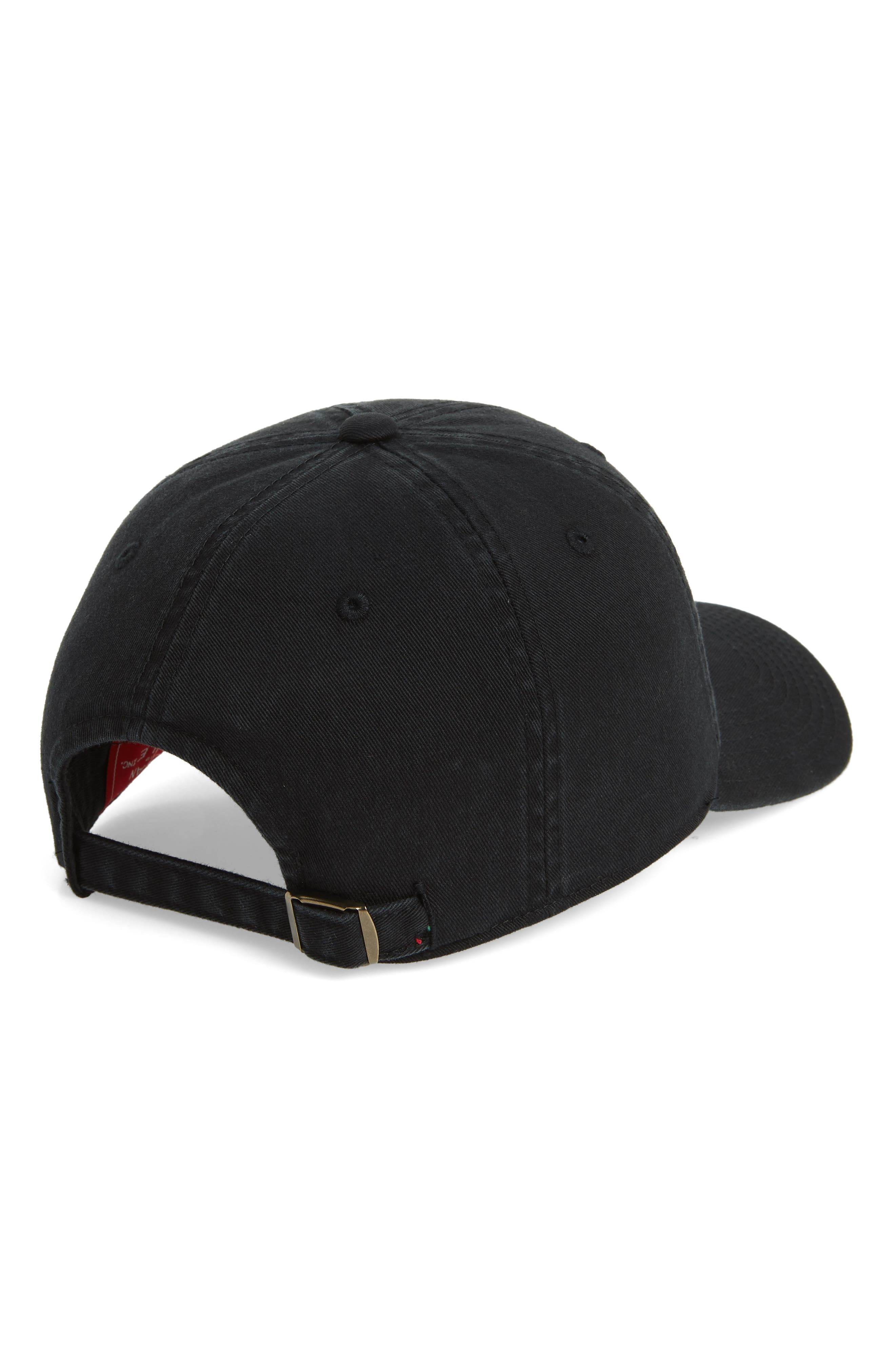 United Slouch Los Angeles Ball Cap,                             Alternate thumbnail 3, color,                             Ivory/ Black
