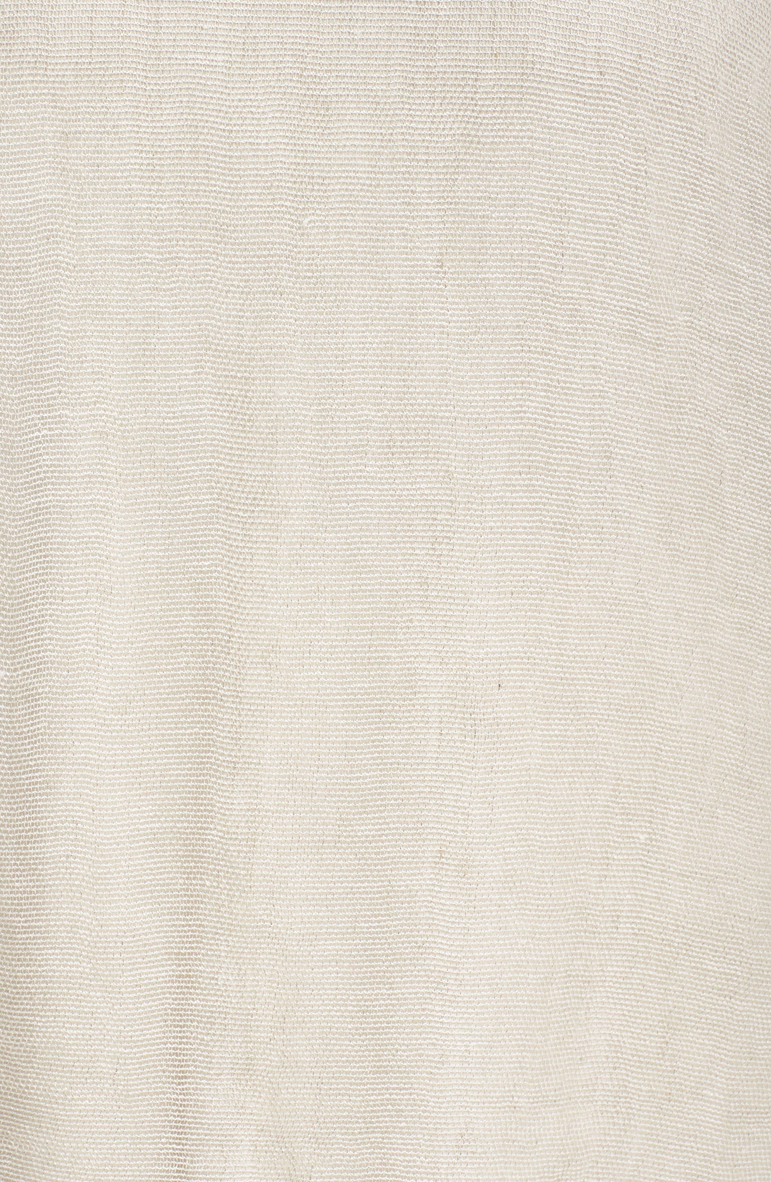 Organic Linen Mesh Tunic,                             Alternate thumbnail 6, color,                             Undyed Natural