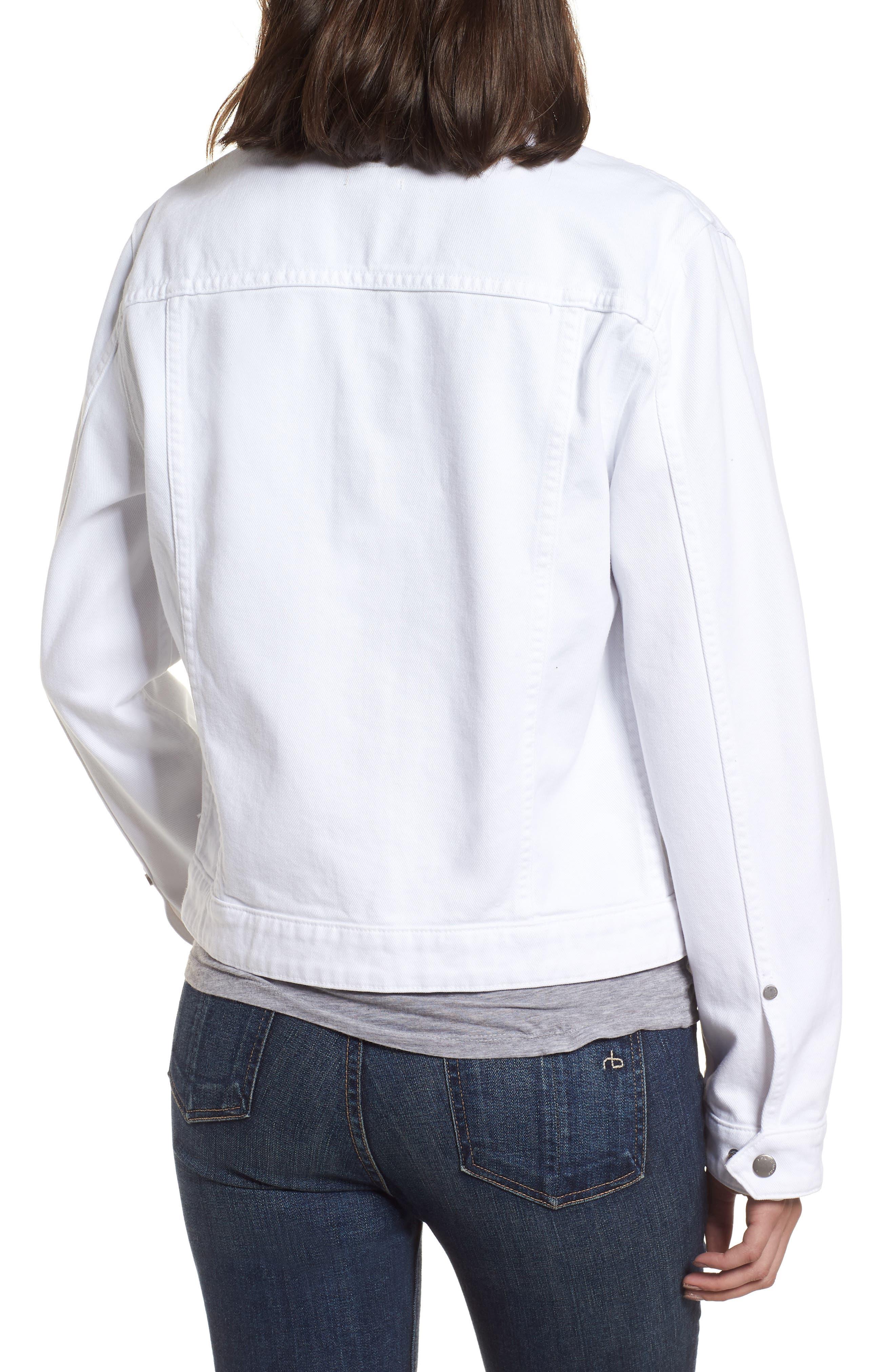 Nico Denim Jacket,                             Alternate thumbnail 2, color,                             White