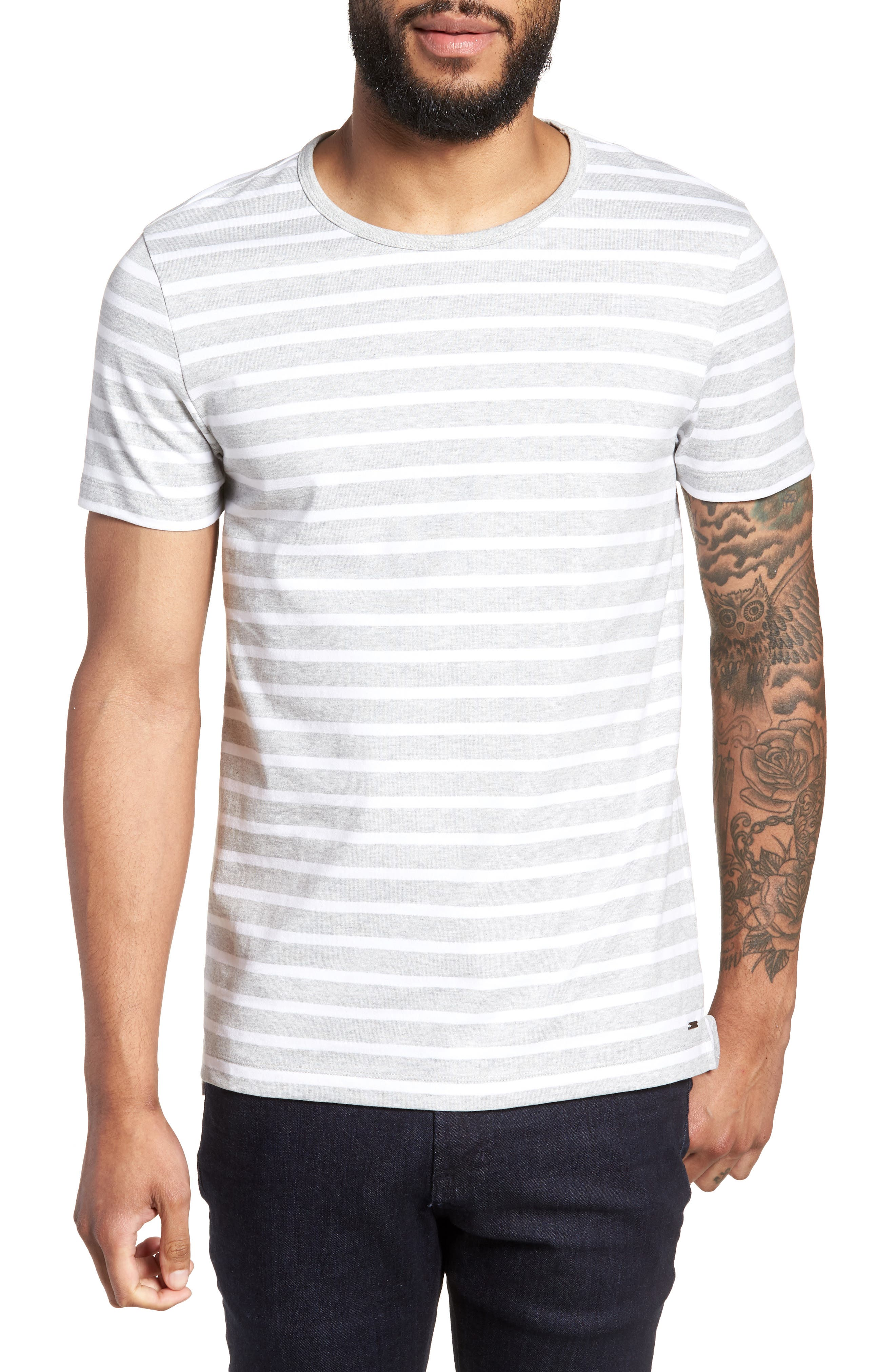 Tessler Slim Fit Crewneck T-Shirt,                             Main thumbnail 1, color,                             Grey