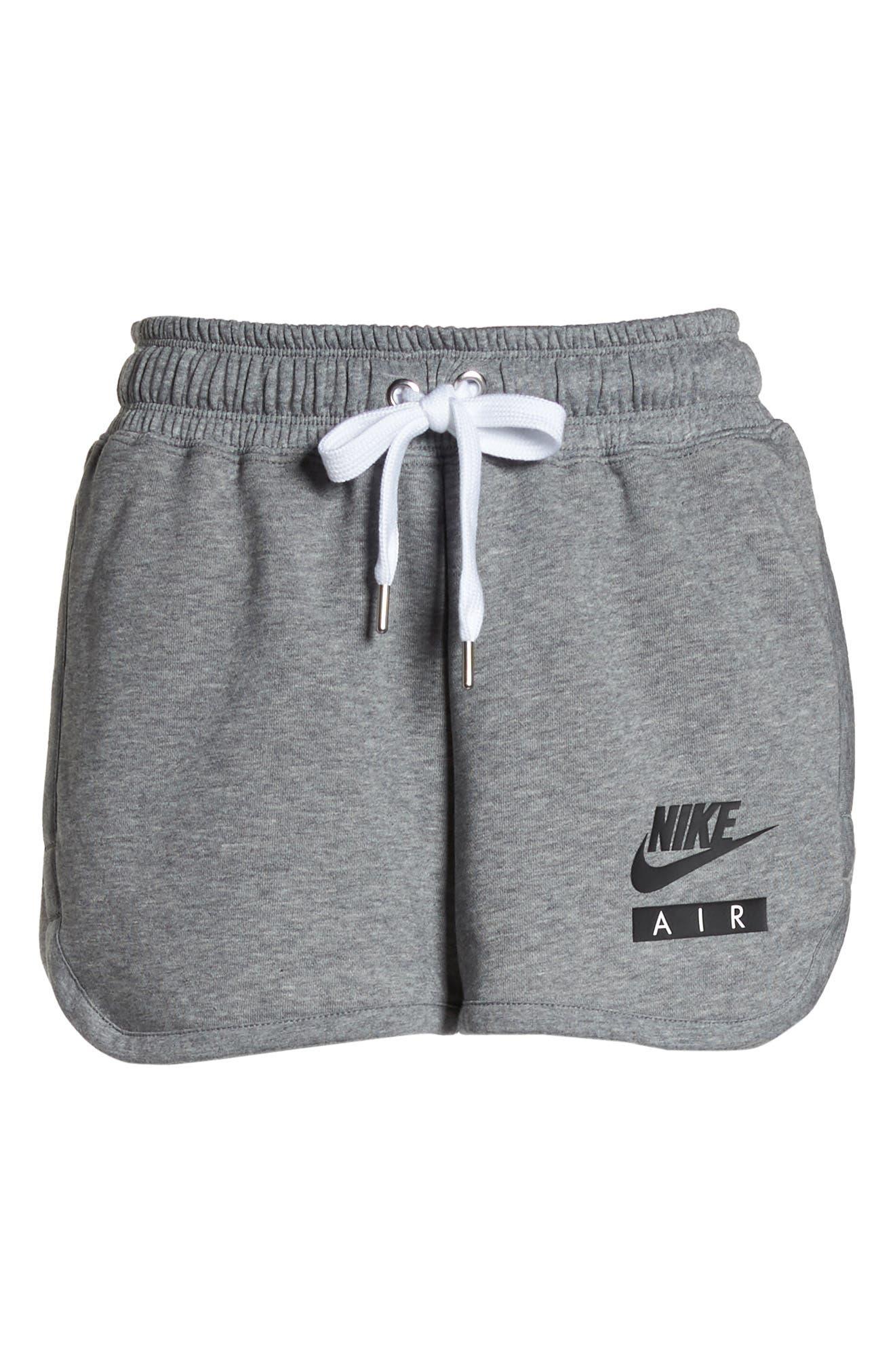 Sportswear Air Gym Shorts,                             Alternate thumbnail 8, color,                             Carbon Heather/ White/ Black