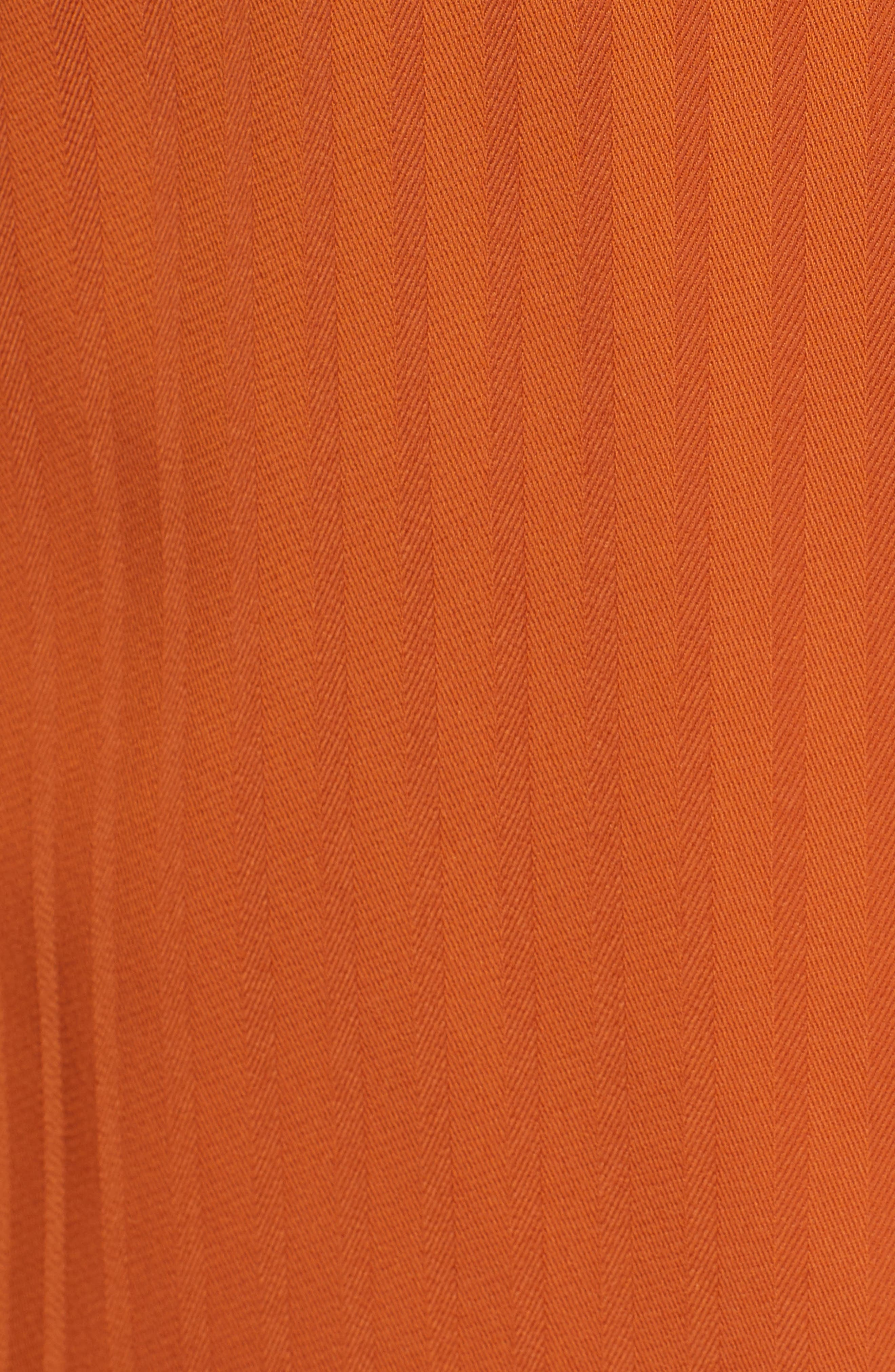 Draped One-Shoulder Top,                             Alternate thumbnail 6, color,                             Rust Cider