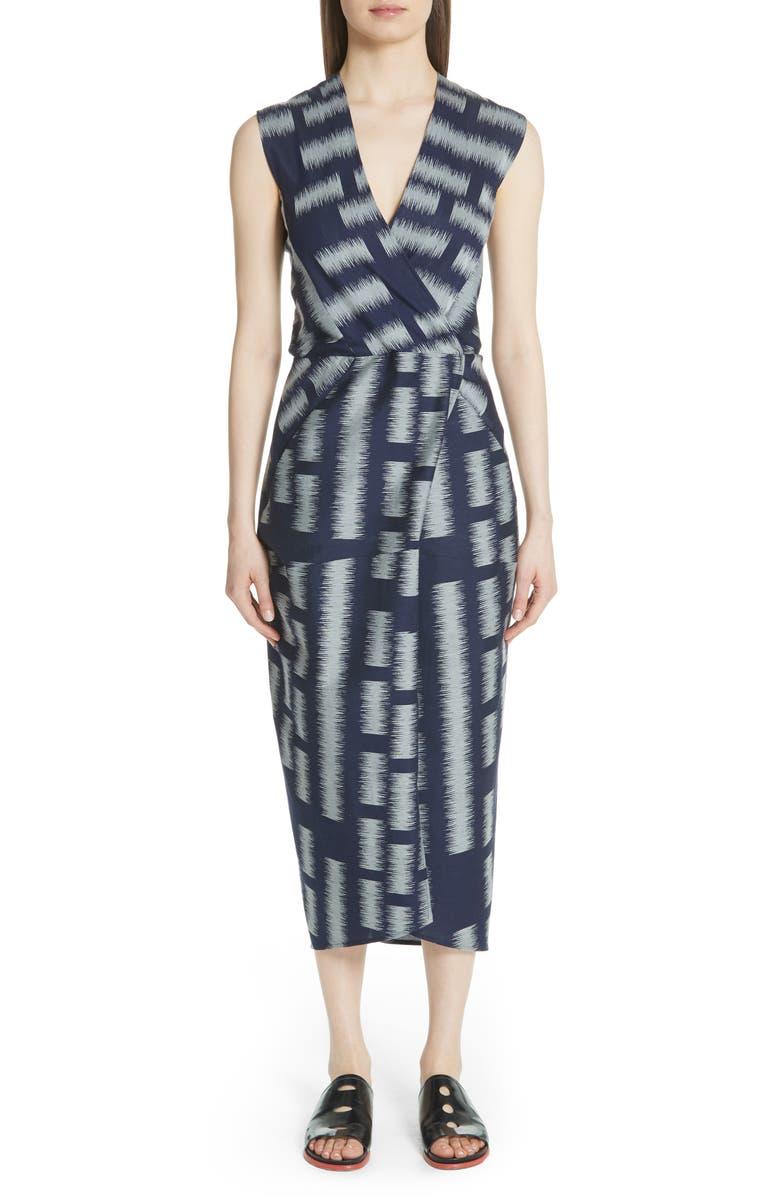 Block Jacquard Dress