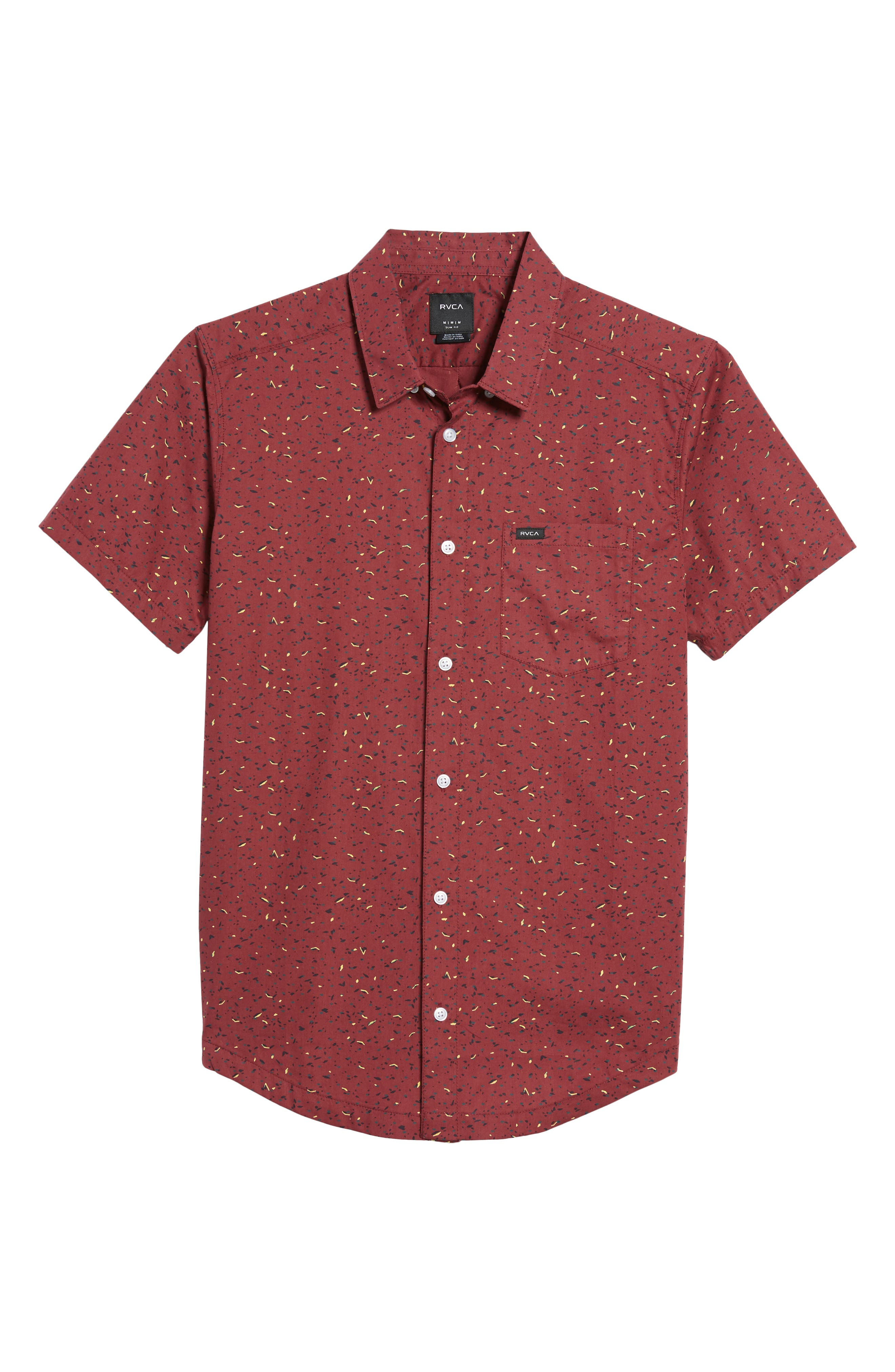 Jaded Woven Shirt,                             Alternate thumbnail 6, color,                             Tawny Port