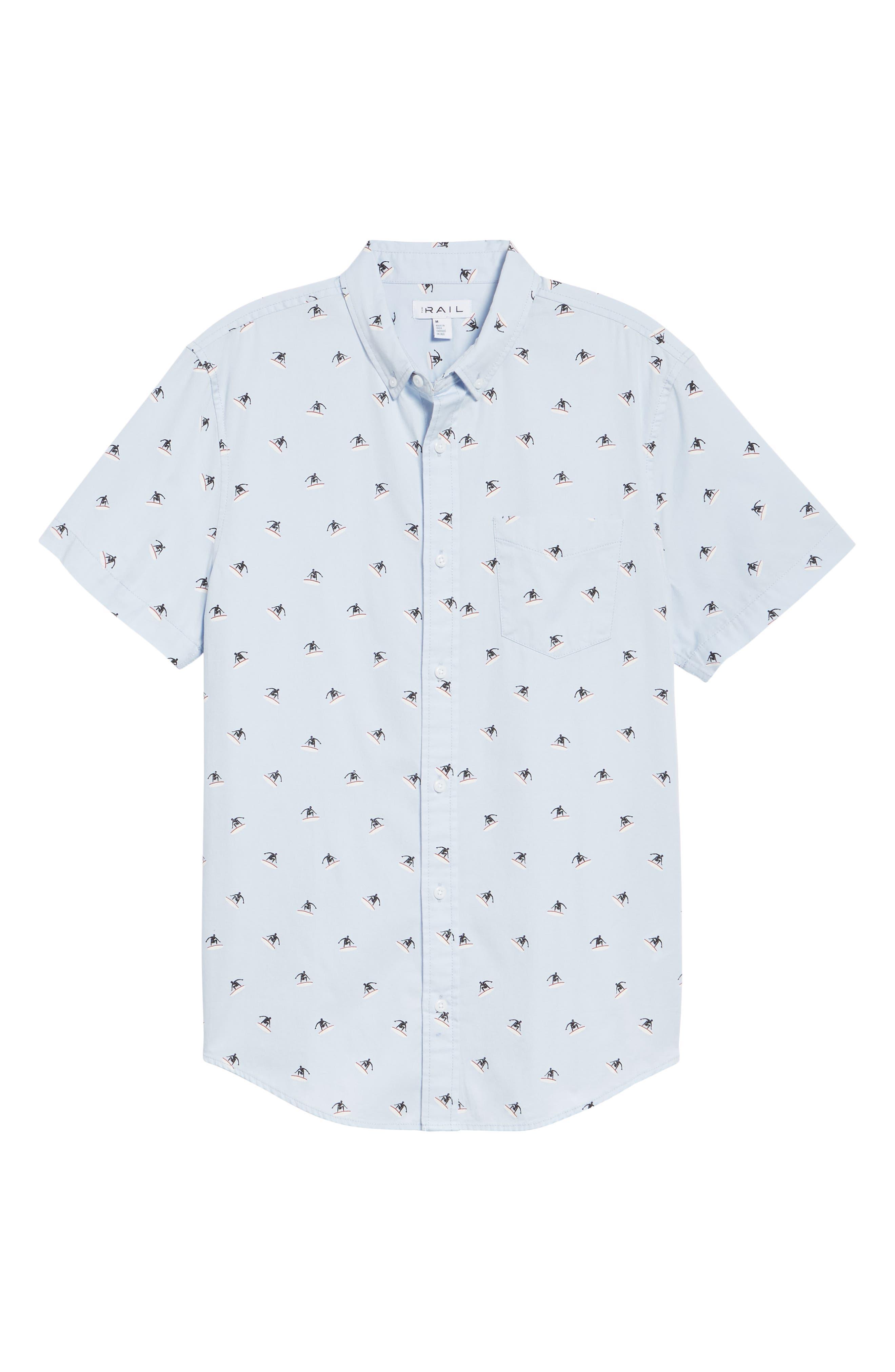 Jacquard Woven Shirt,                             Alternate thumbnail 6, color,                             Blue Orydalis Surfer
