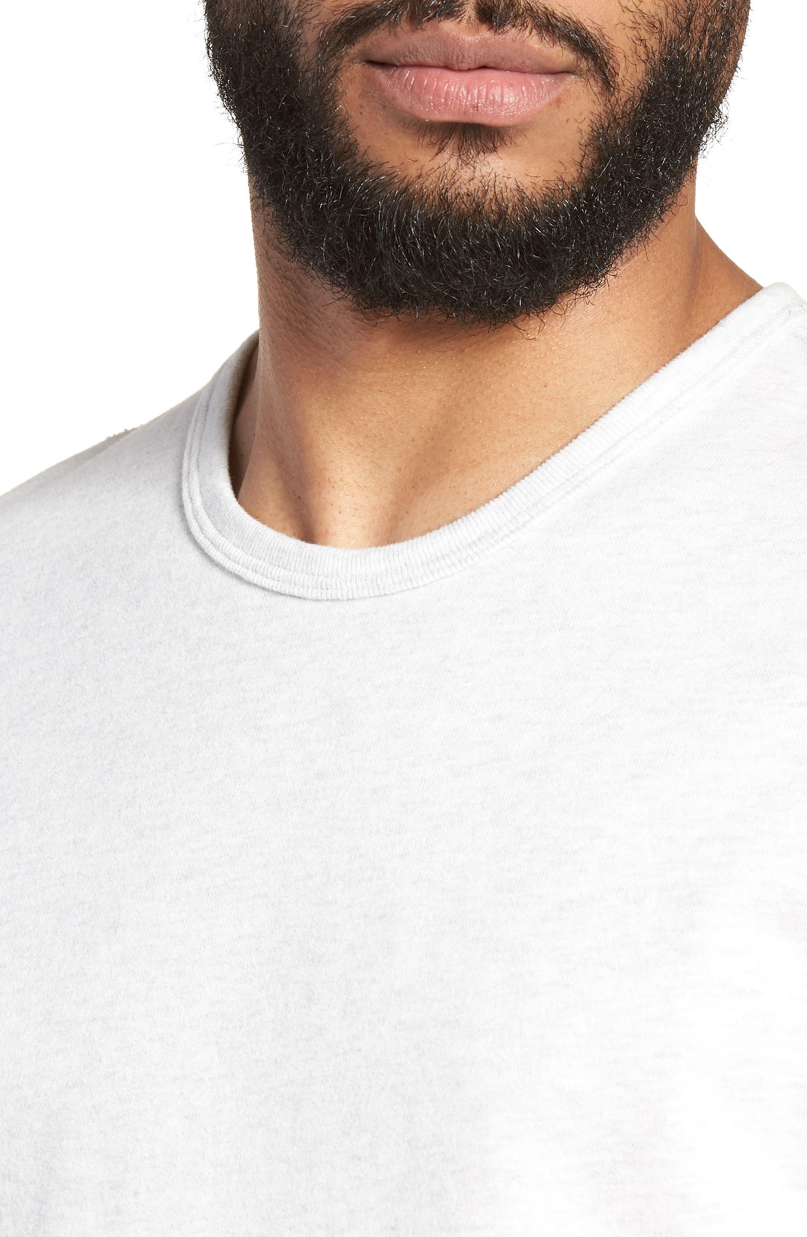 Raw Edge T-Shirt,                             Alternate thumbnail 4, color,                             H. Ash