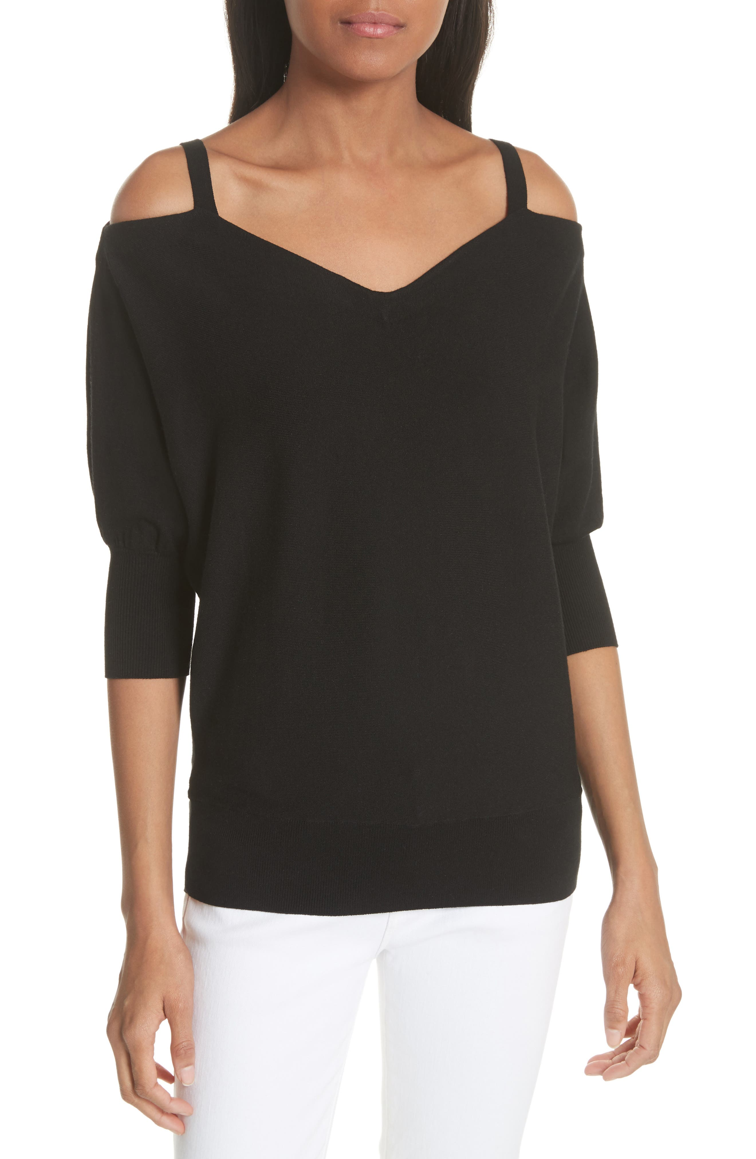 Milly Drama Cold Shoulder Dolman Sleeve Top