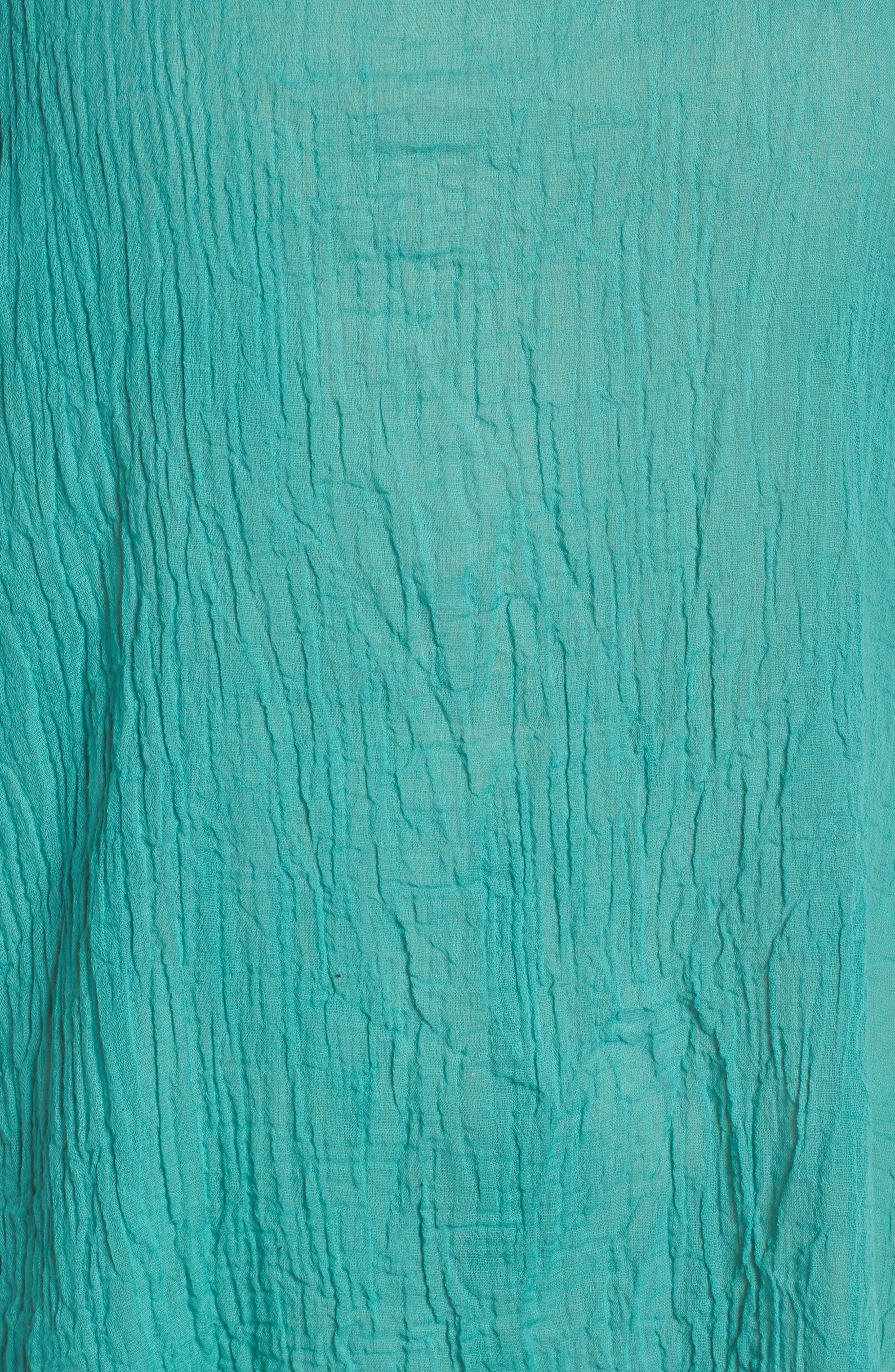 Organic Cotton Poncho,                             Alternate thumbnail 6, color,                             Turquoise