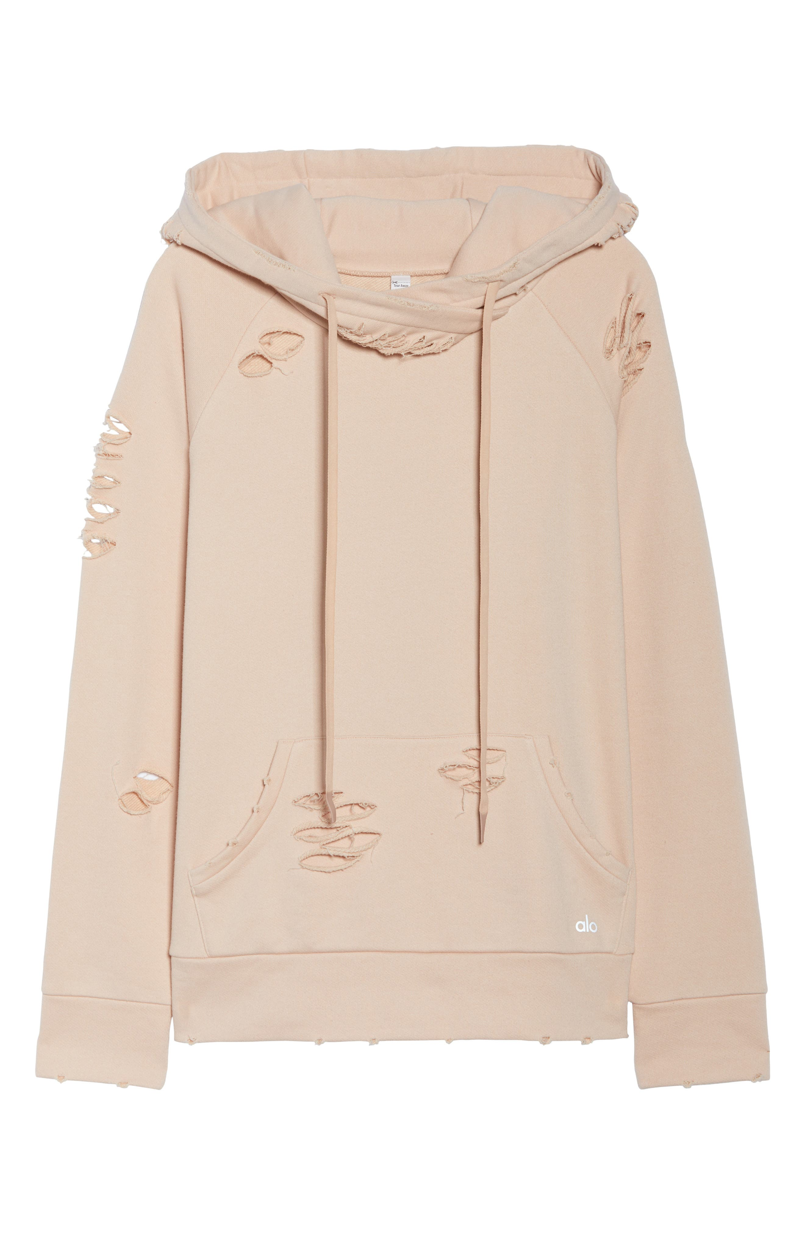 Ripped Hoodie,                             Alternate thumbnail 7, color,                             Nectar