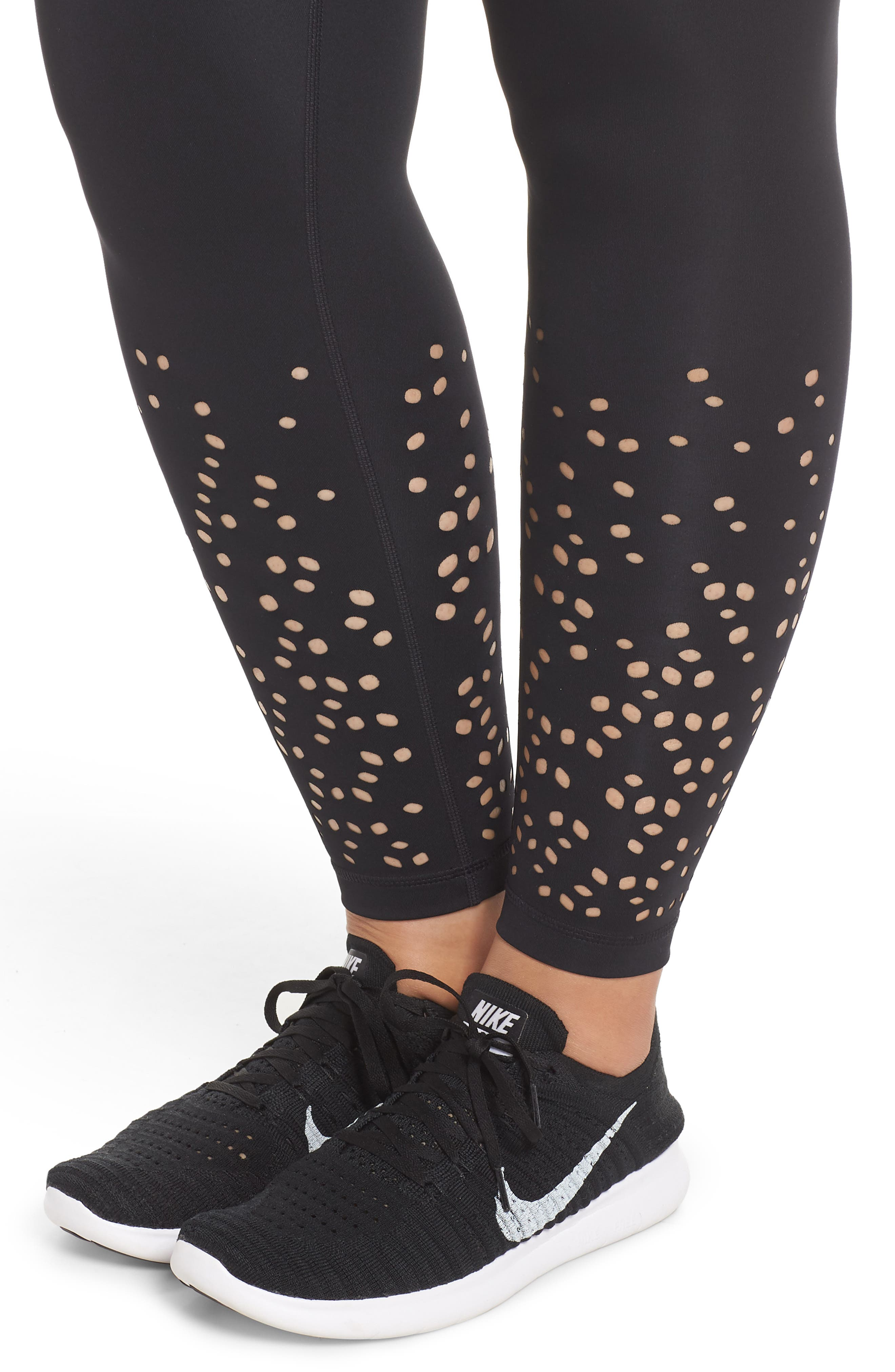 Alternate Image 4  - Zella Lasercut Leggings (Plus Size)