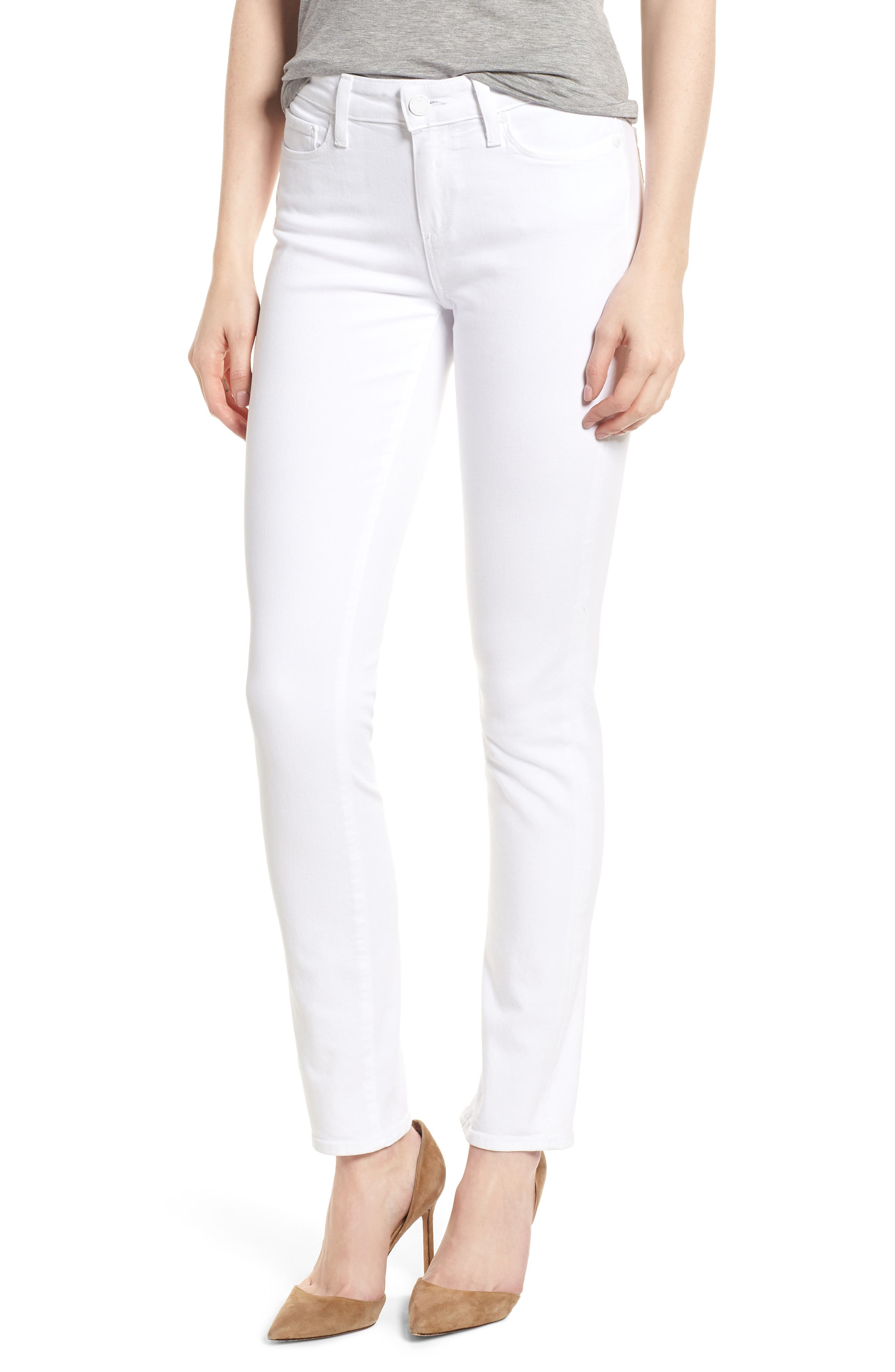 PAIGE Skyline Skinny Jeans (Crisp White)