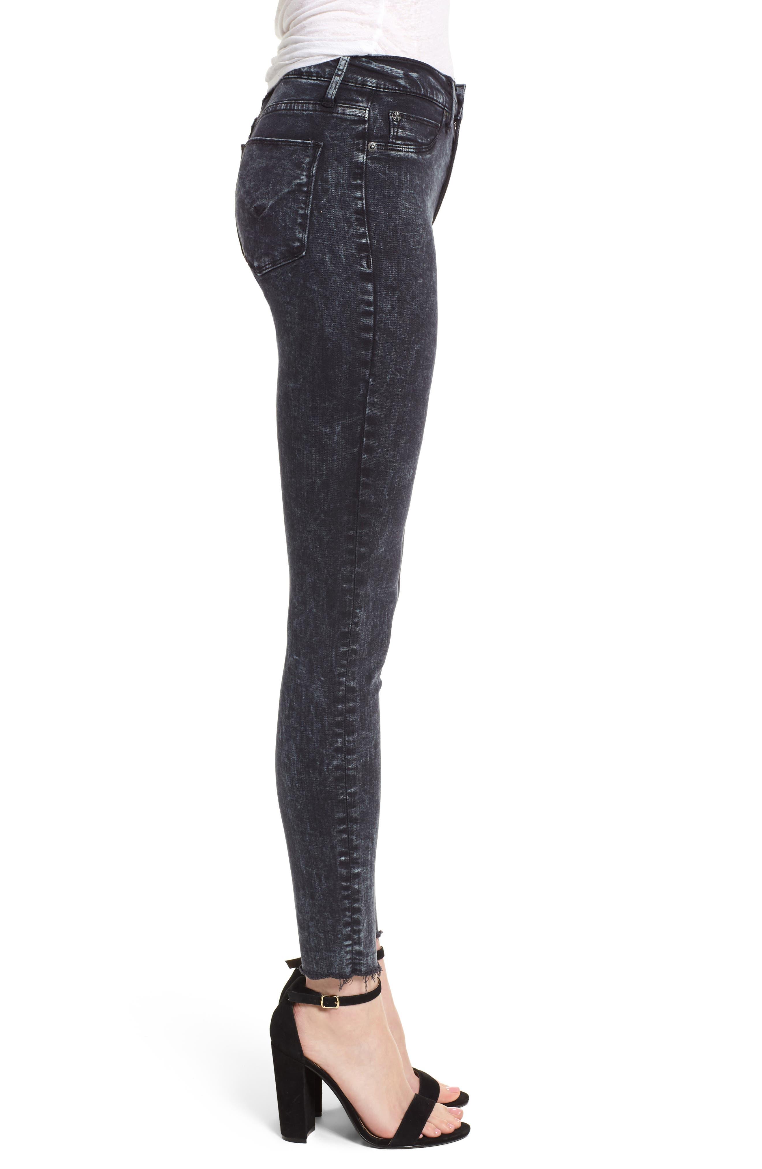 Barbara High Waist Ankle Skinny Jeans,                             Alternate thumbnail 3, color,                             Dainty