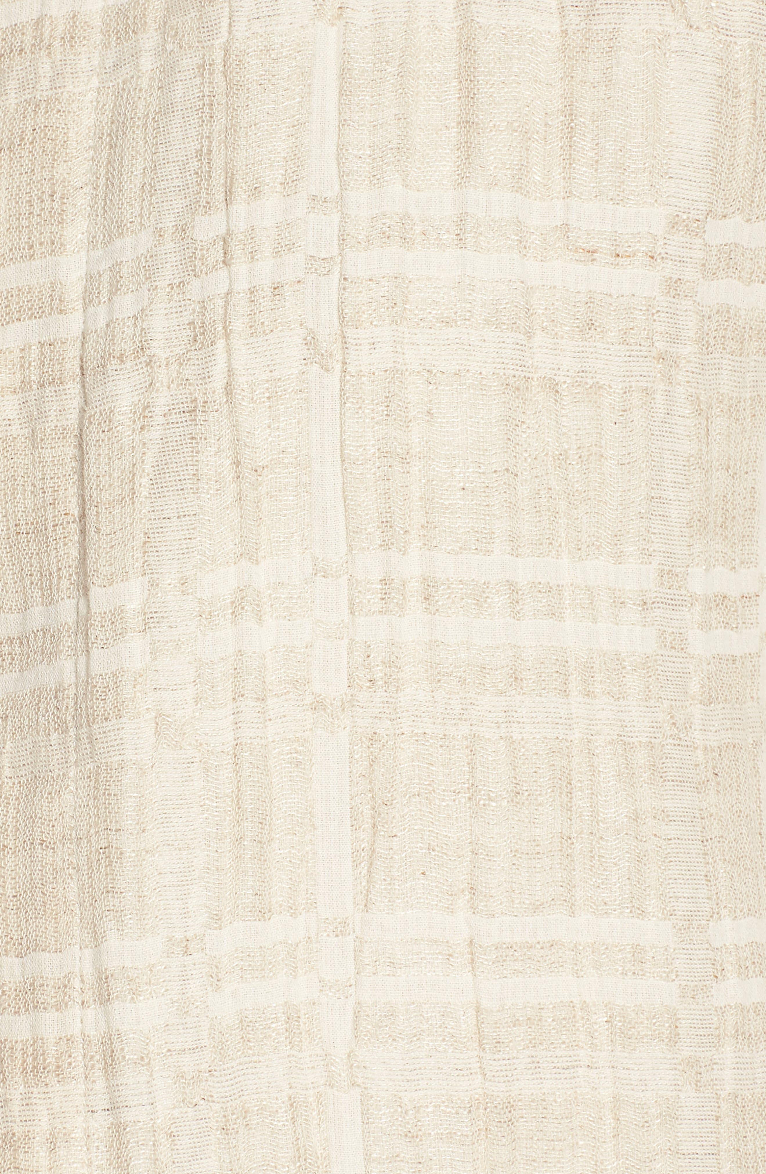 Check Organic Cotton & Linen Jacket,                             Alternate thumbnail 6, color,                             Natural