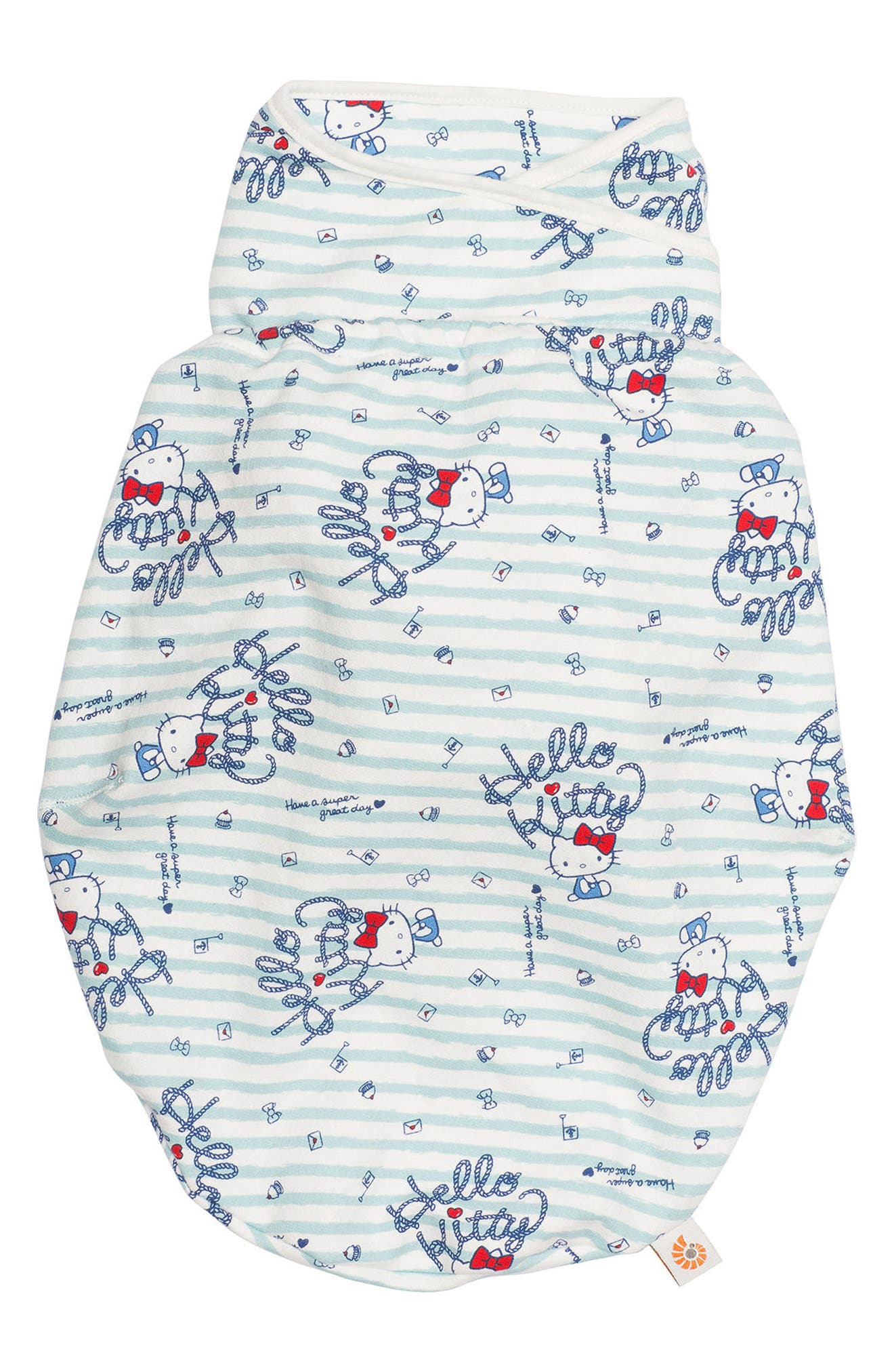 Limited Edition Hello Kitty<sup>®</sup> Swaddler,                             Main thumbnail 1, color,                             Cream/ Blue