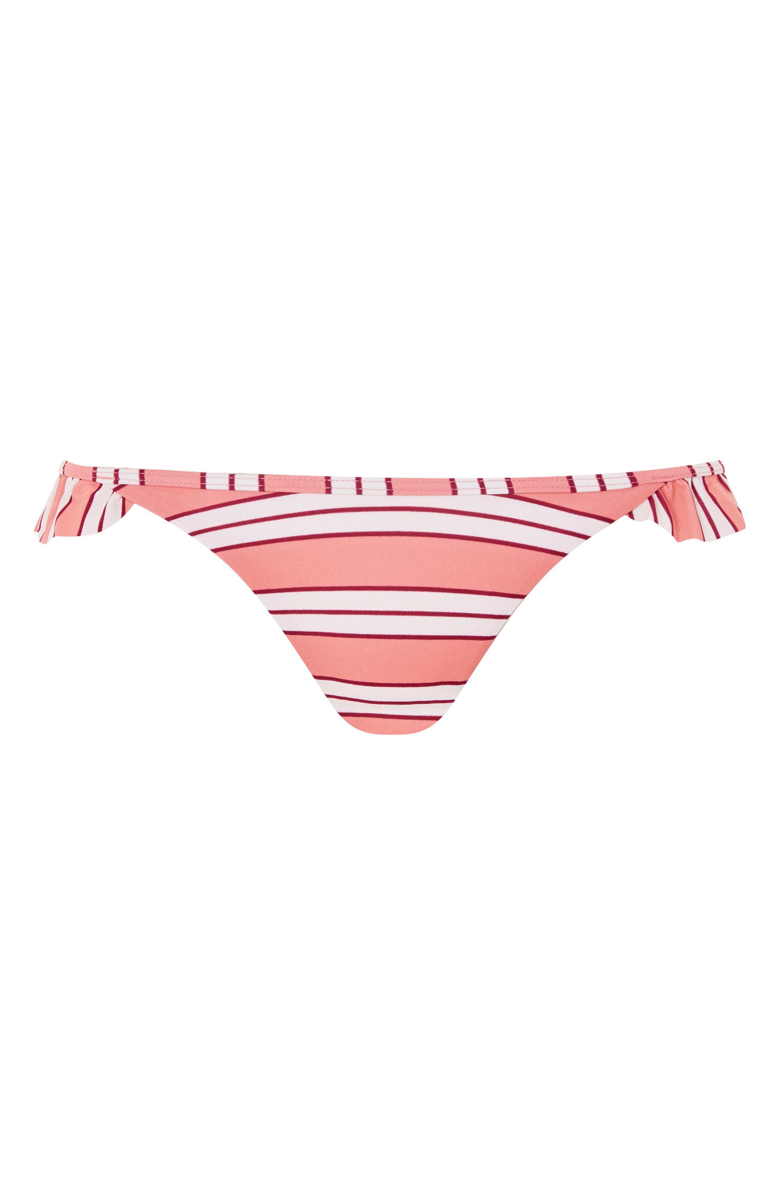 Stripe Frill Bottoms,                             Alternate thumbnail 3, color,                             Pink Multi