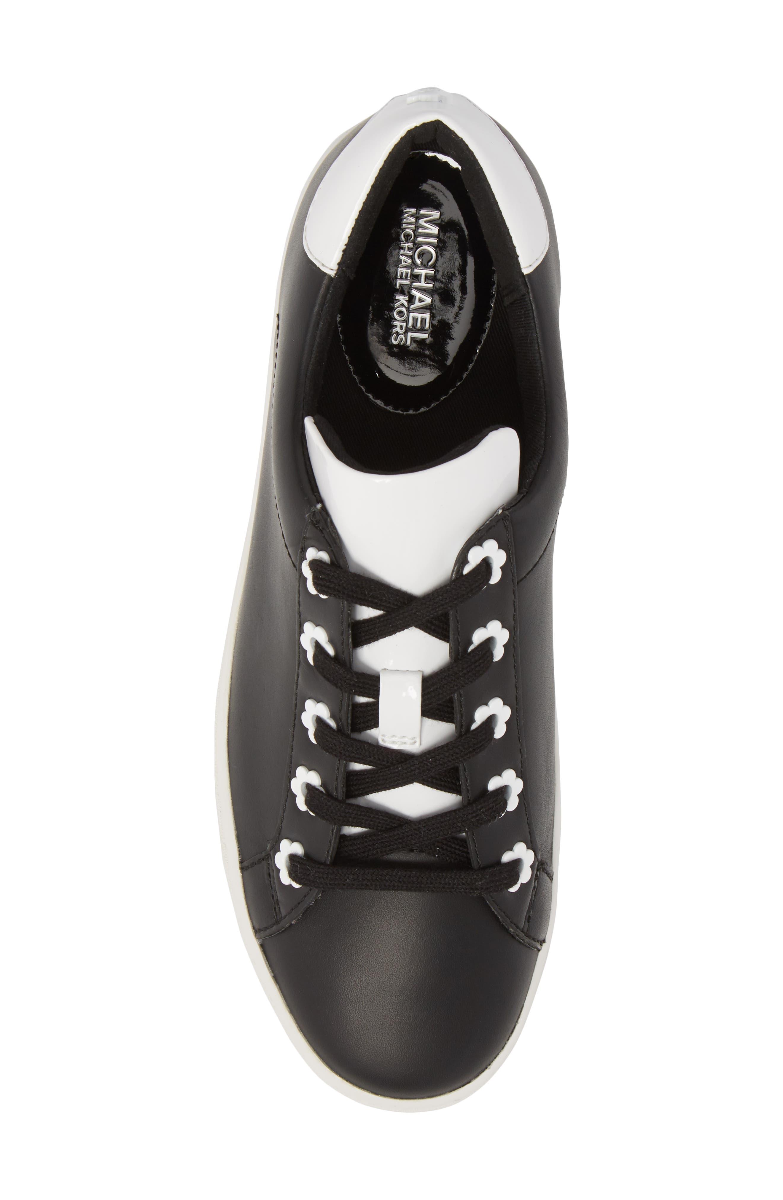 Irving Sneaker,                             Alternate thumbnail 5, color,                             Black/ Optic White