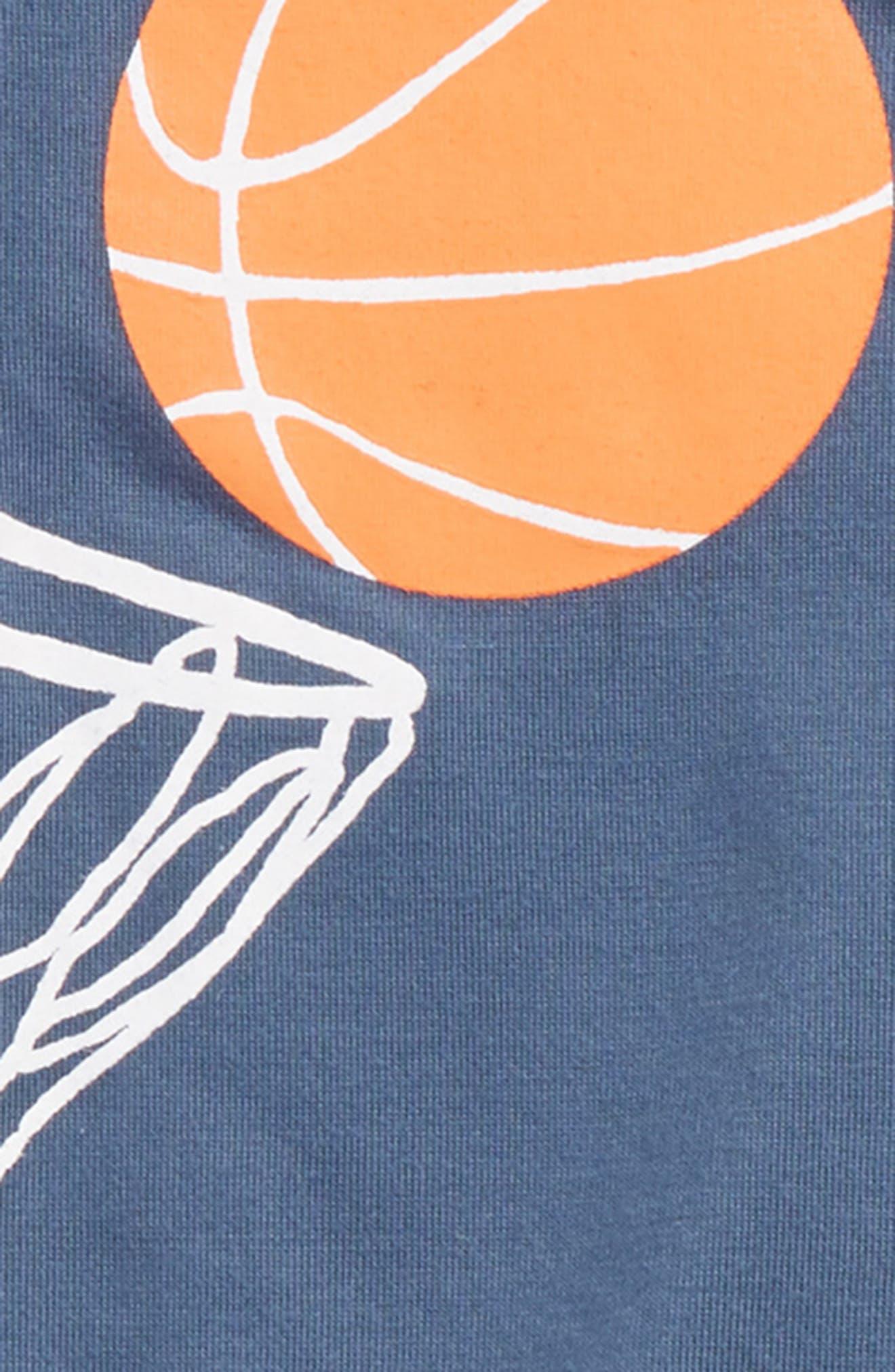 Yum Yum Two-Piece Pajamas,                             Alternate thumbnail 3, color,                             Blue Vintage Basket Swish
