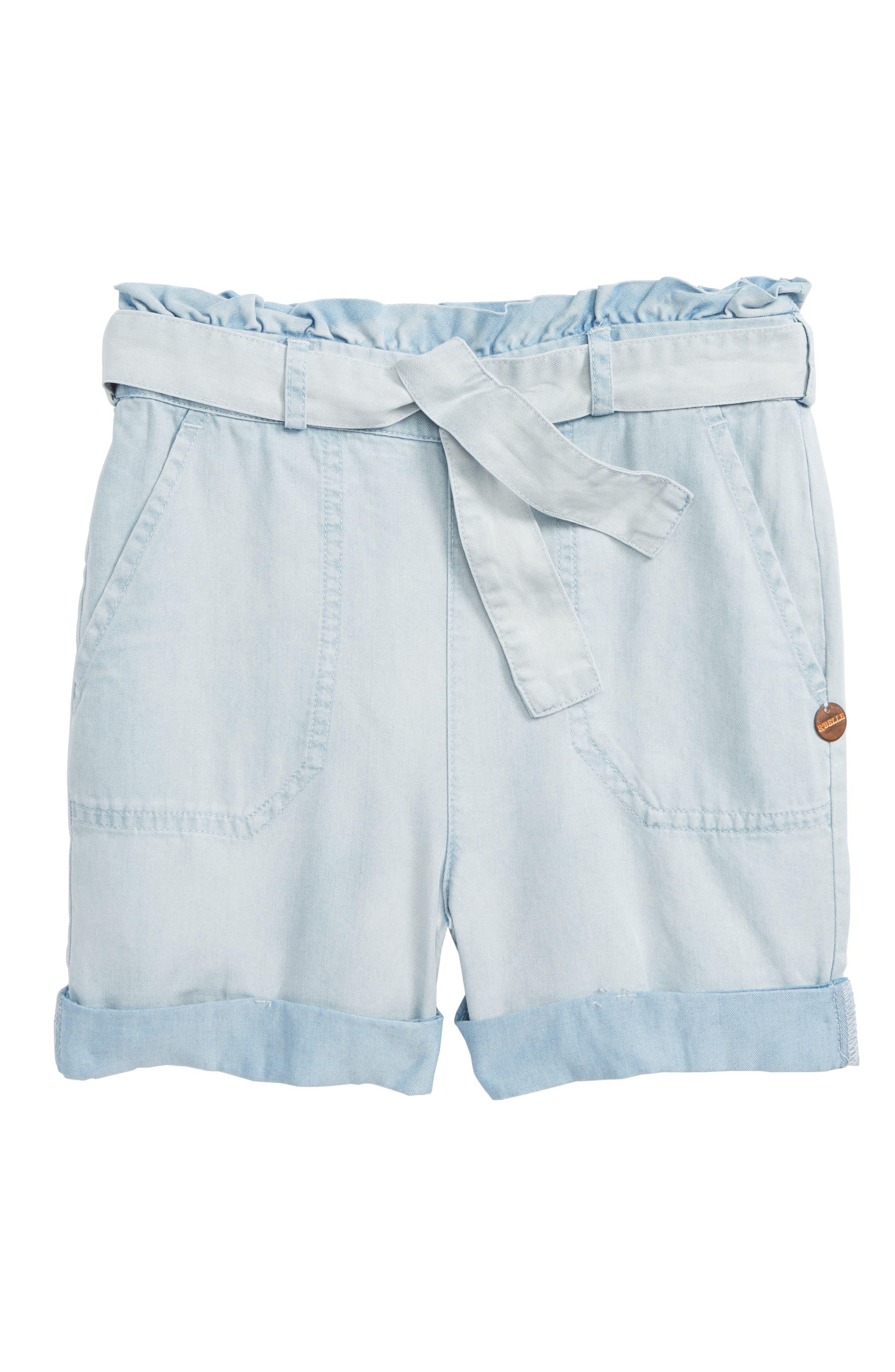 Scotch R'Belle Chambray Shorts,                             Main thumbnail 1, color,                             Cloud